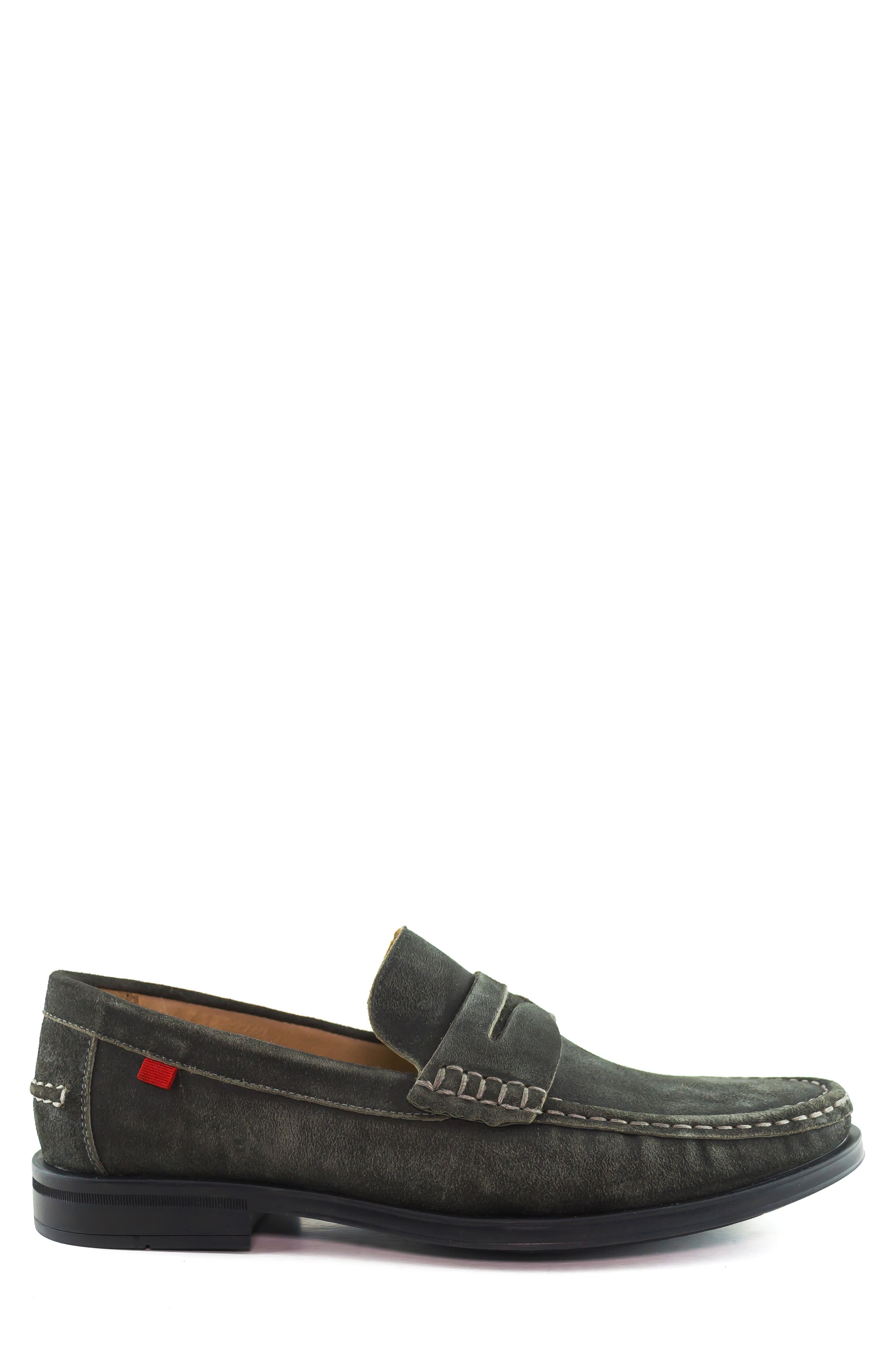 Cortland Penny Loafer,                             Alternate thumbnail 3, color,                             GRAPHITE LEATHER
