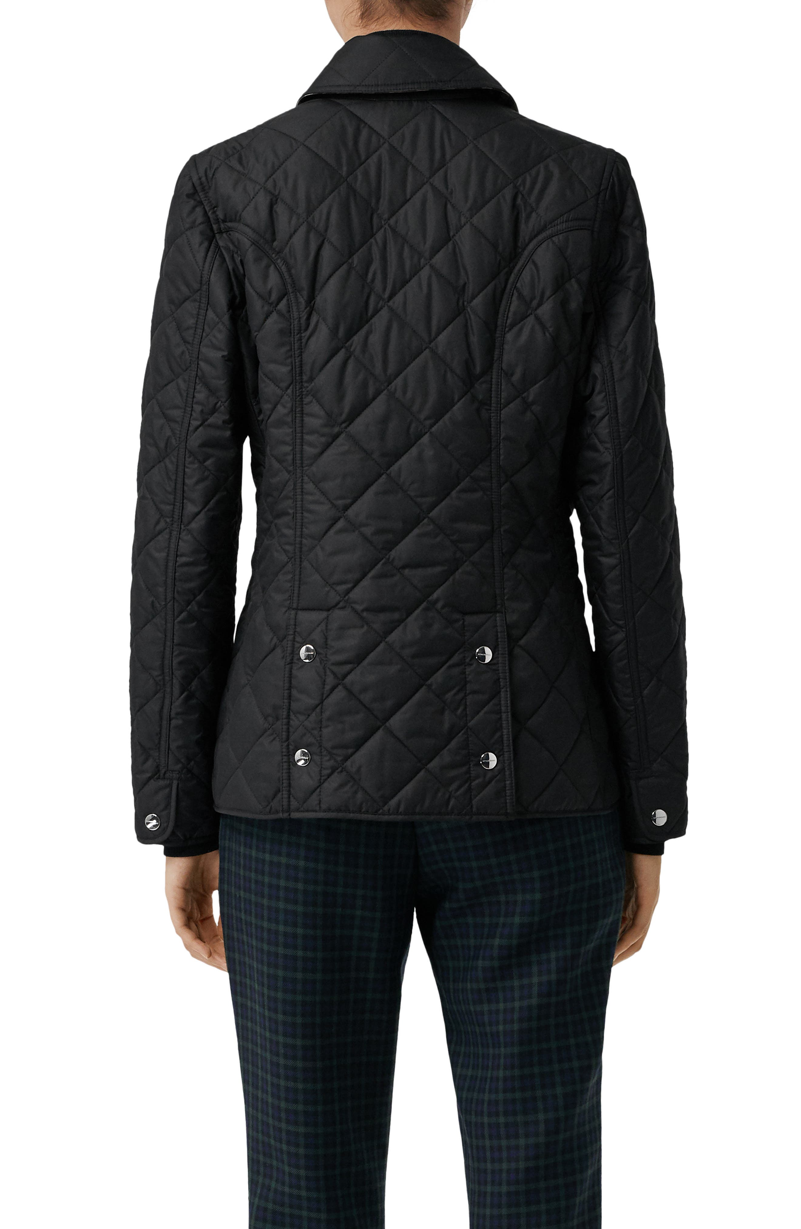 Franwell Diamond Quilted Jacket,                             Alternate thumbnail 2, color,                             BLACK