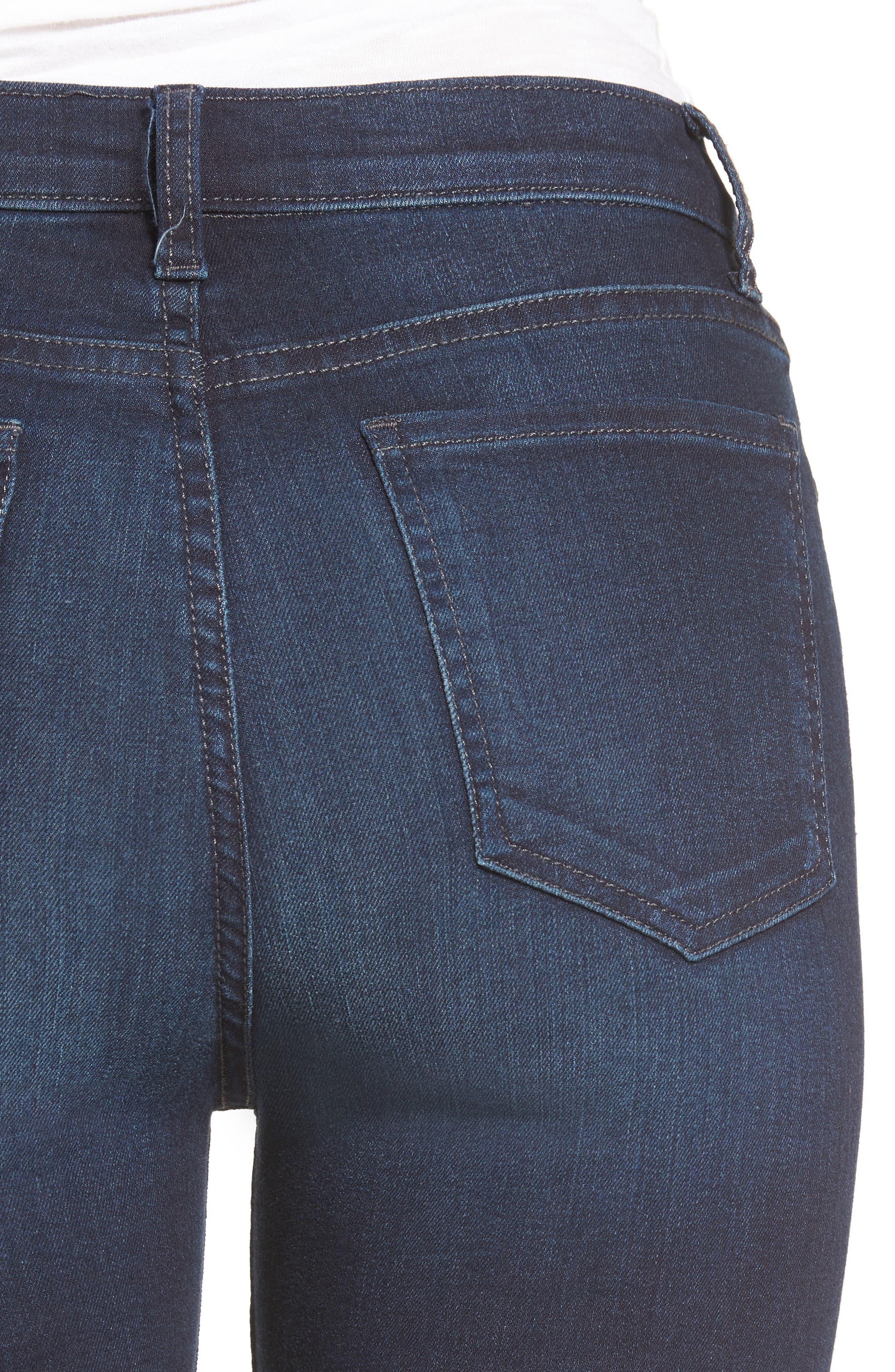 Mia High Waist Skinny Jeans,                             Alternate thumbnail 4, color,