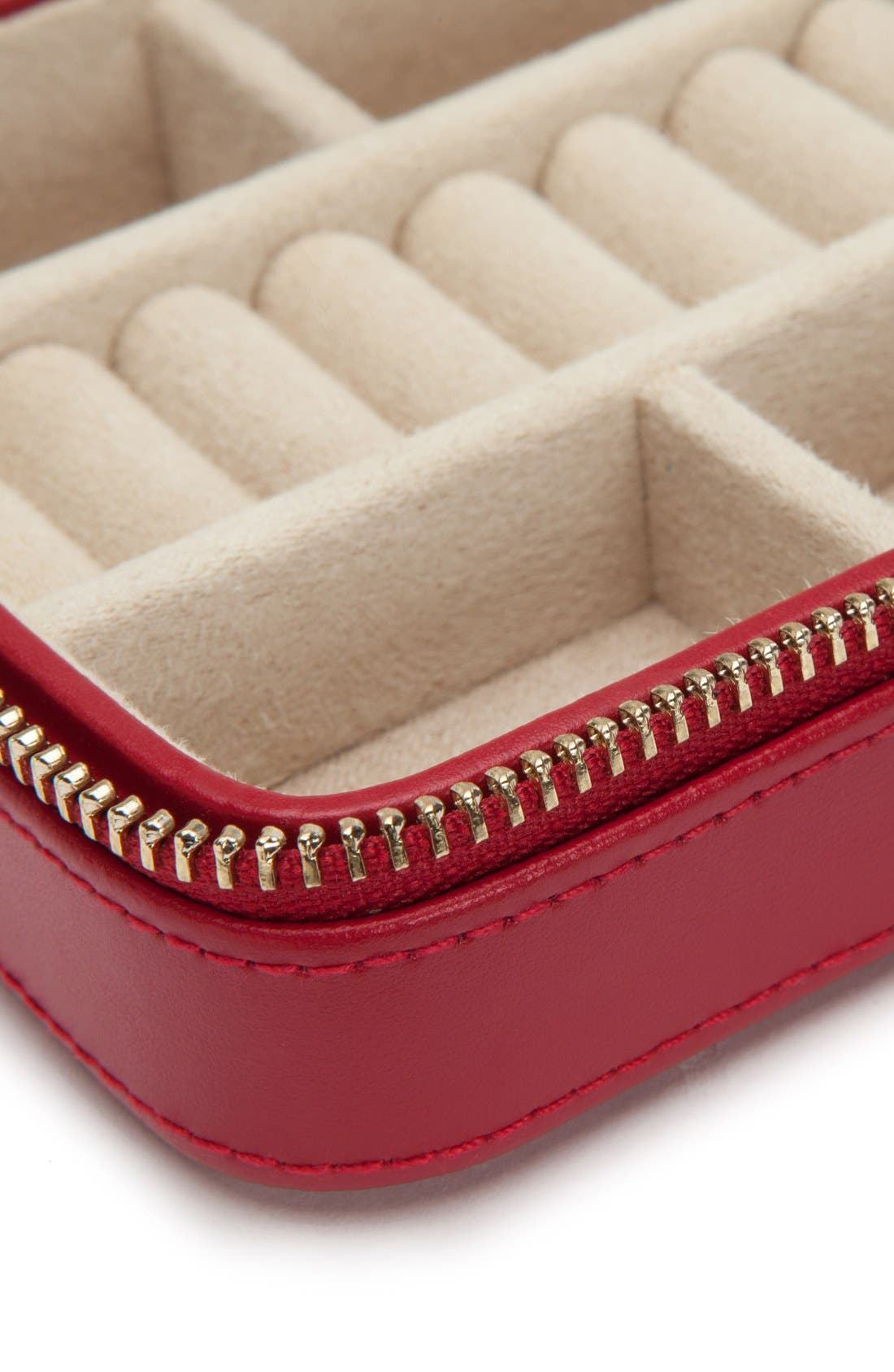 'Caroline' Travel Jewelry Case,                             Alternate thumbnail 2, color,                             RED