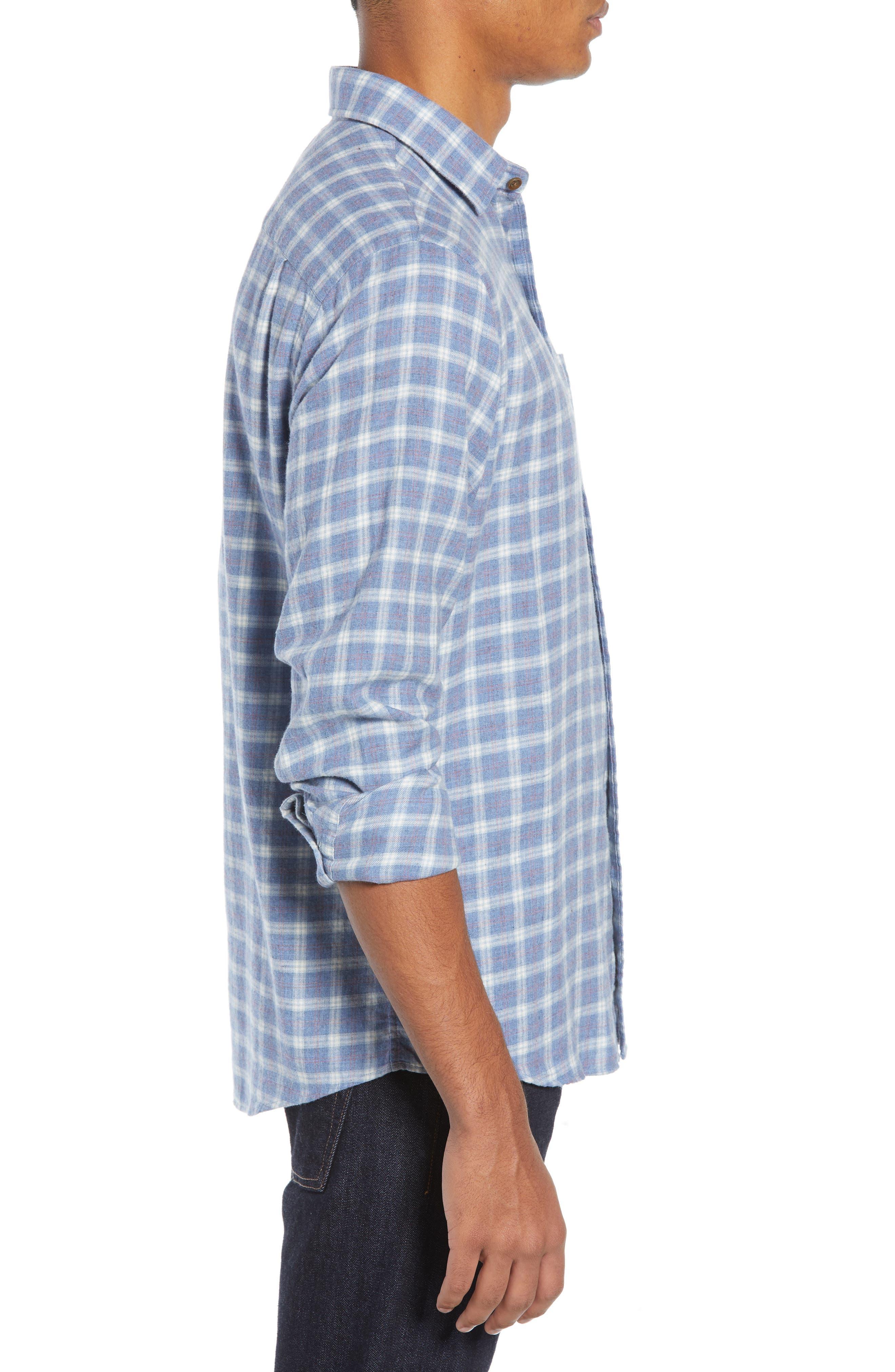 Ventura Oxford Sport Shirt,                             Alternate thumbnail 4, color,                             HEATHER BLUE CHECK