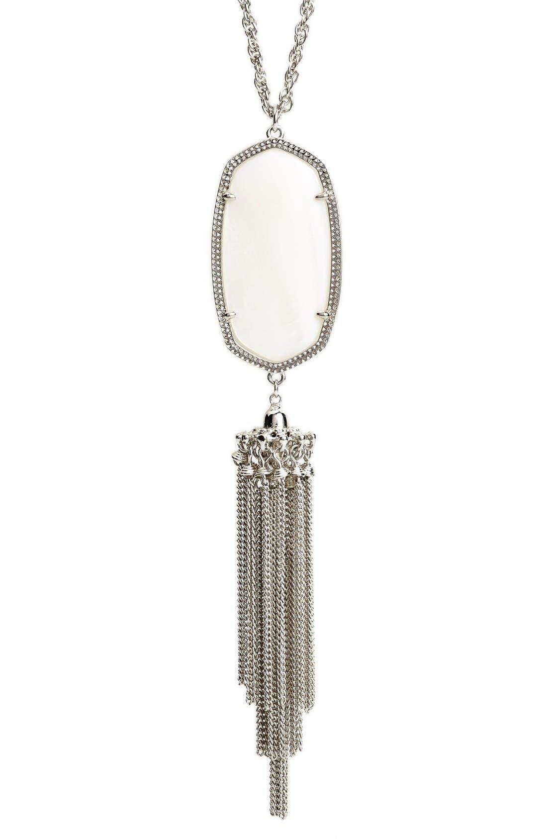 Rayne Stone Tassel Pendant Necklace,                             Alternate thumbnail 113, color,