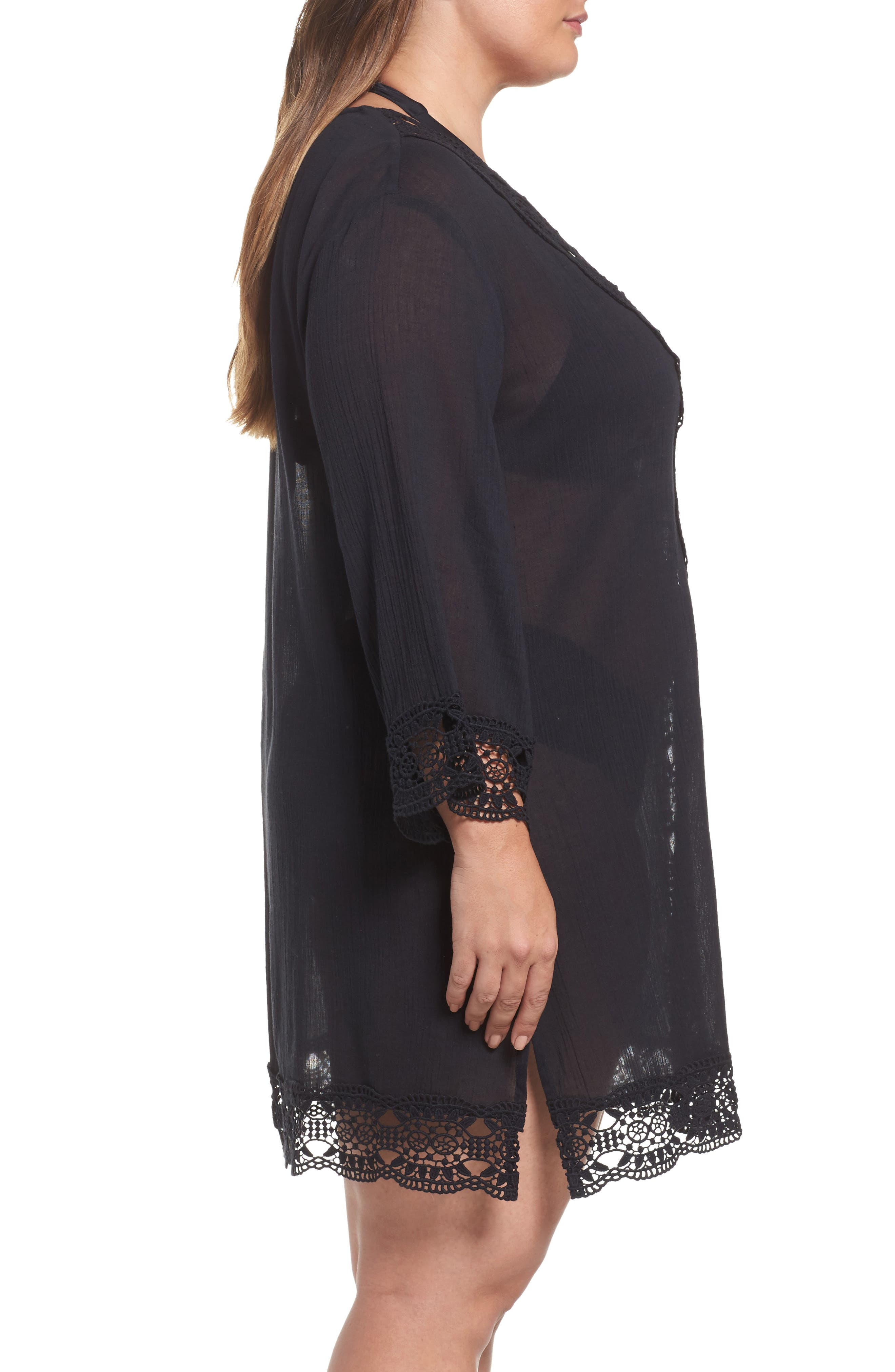 Island Fare Cover-Up Tunic,                             Alternate thumbnail 3, color,                             001