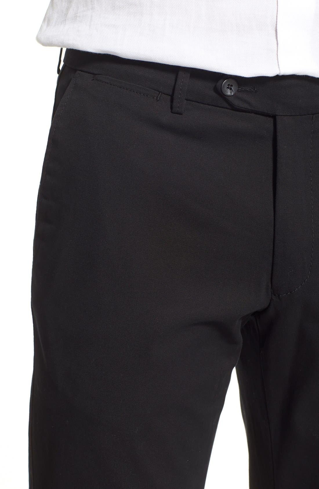 Atwater Cotton Twill Pants,                             Alternate thumbnail 4, color,                             001
