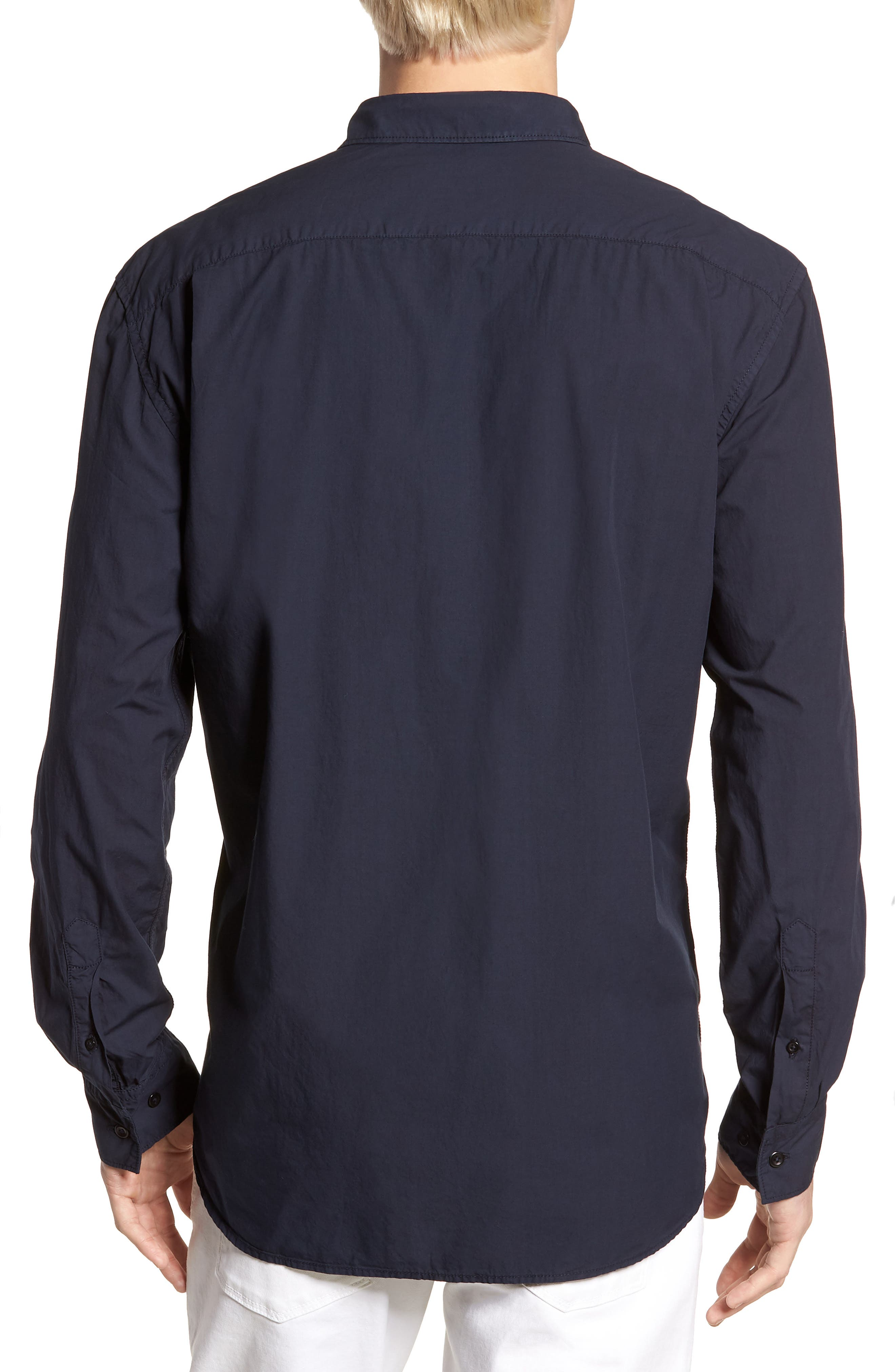 Regular Fit Poplin Sport Shirt,                             Alternate thumbnail 6, color,