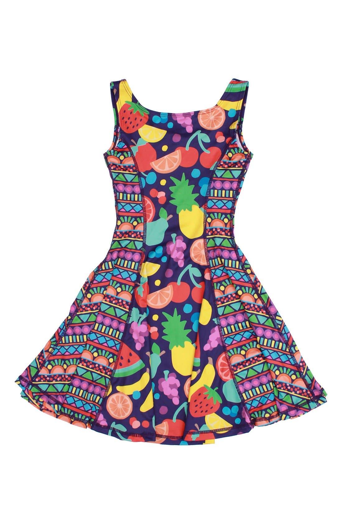 Flow Mixed Print Dress,                             Main thumbnail 8, color,