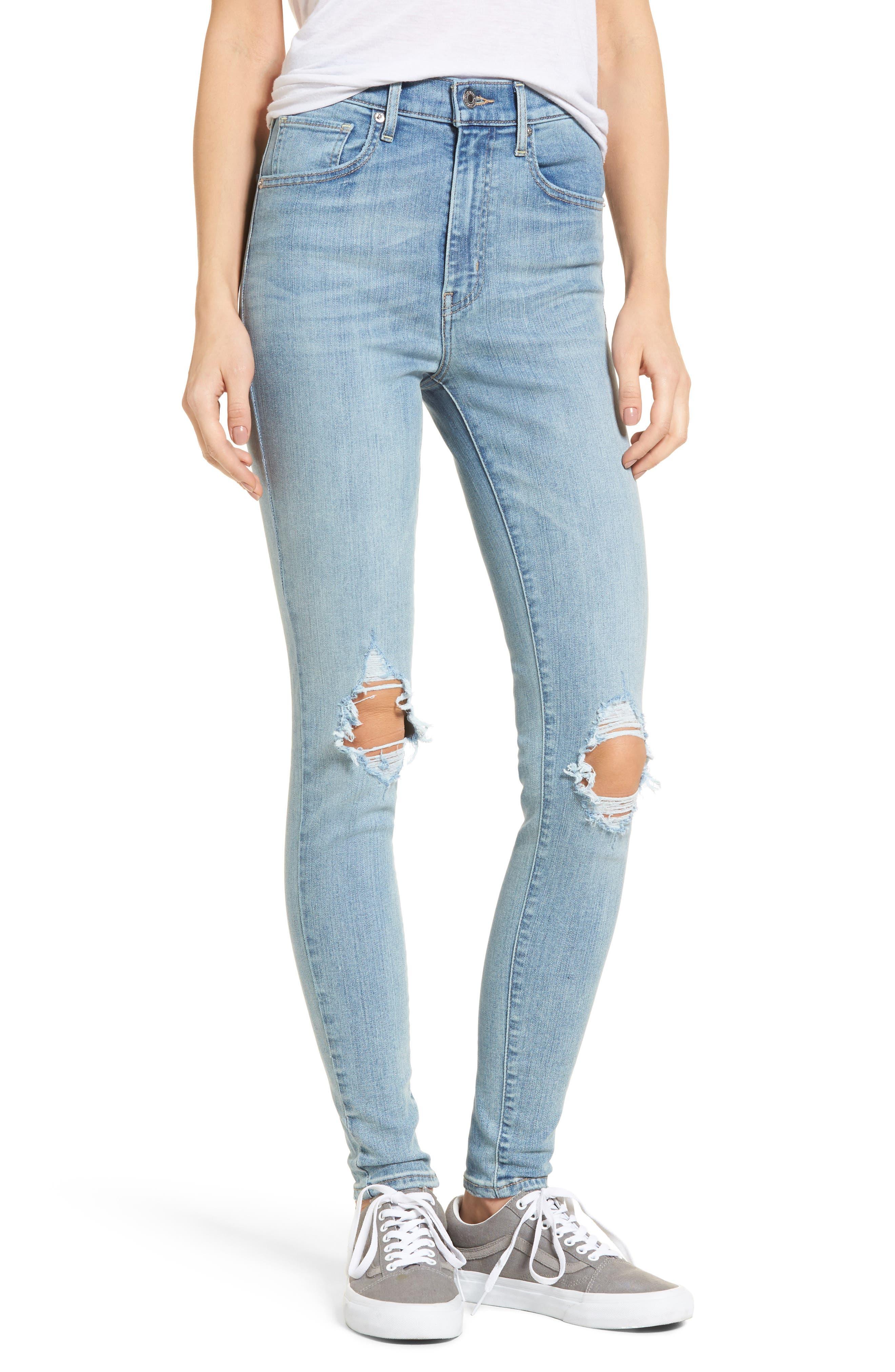 Mile High Super Skinny Jeans,                         Main,                         color,