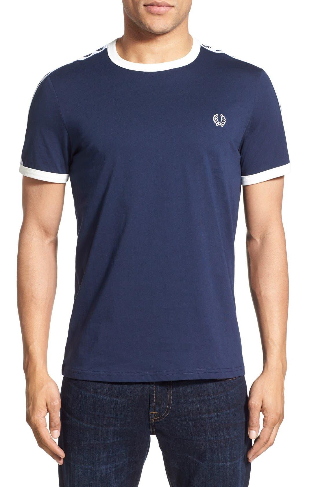 Extra Trim Fit Cotton Ringer T-Shirt,                             Main thumbnail 6, color,