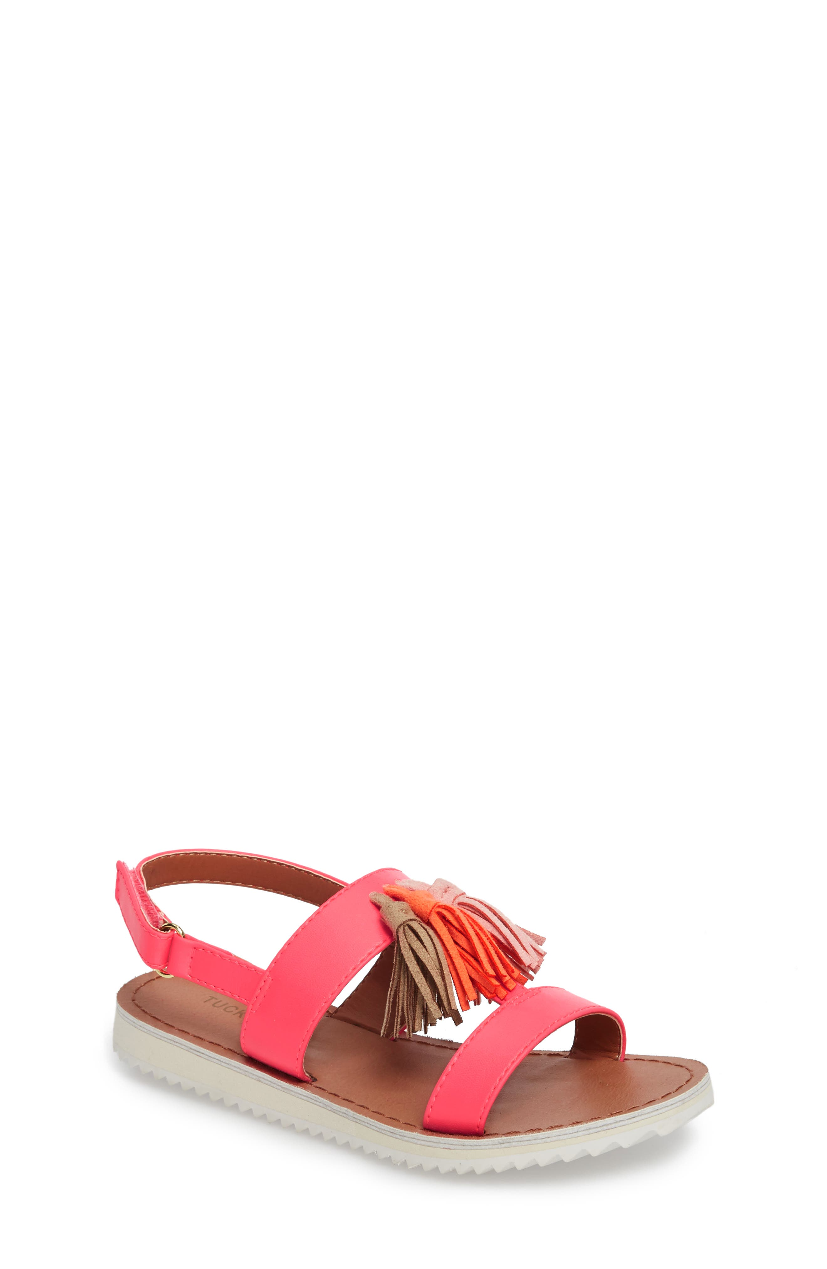 Mari Tasseled Sandal,                             Main thumbnail 1, color,                             690