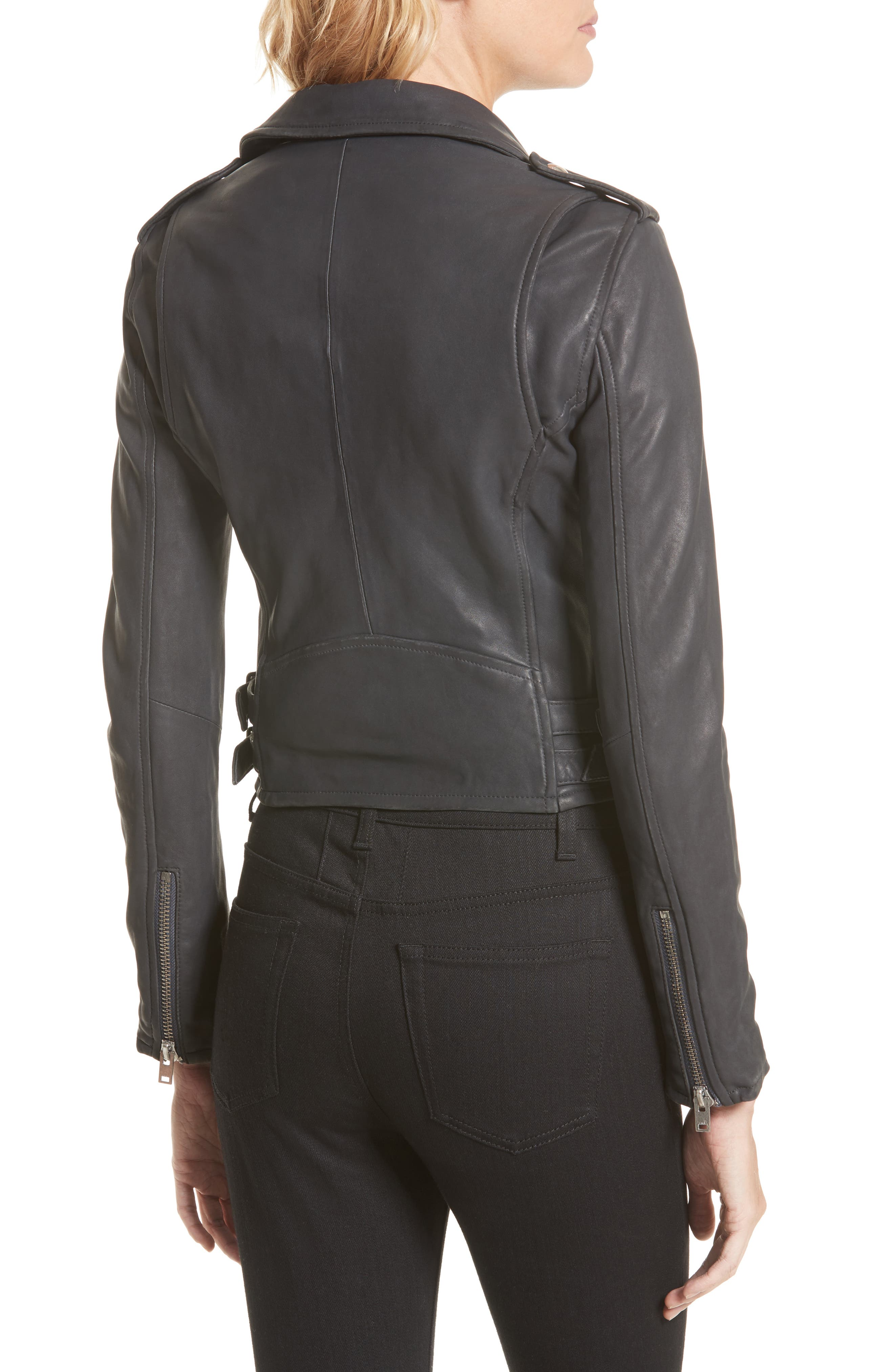 'Ashville' Lambskin Leather Moto Jacket,                             Alternate thumbnail 2, color,                             029