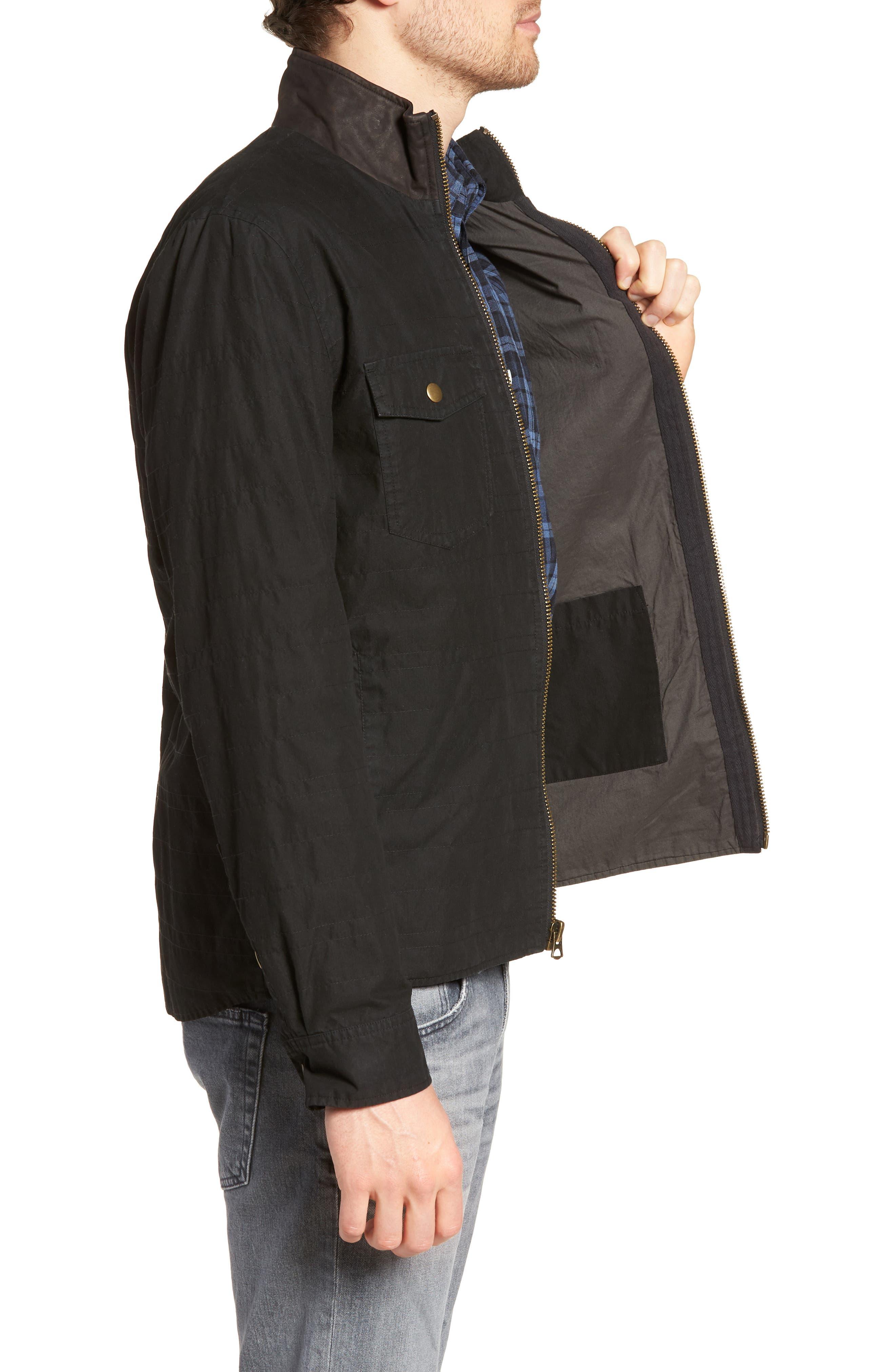 Standard Fit Shirt Jacket,                             Alternate thumbnail 3, color,                             001