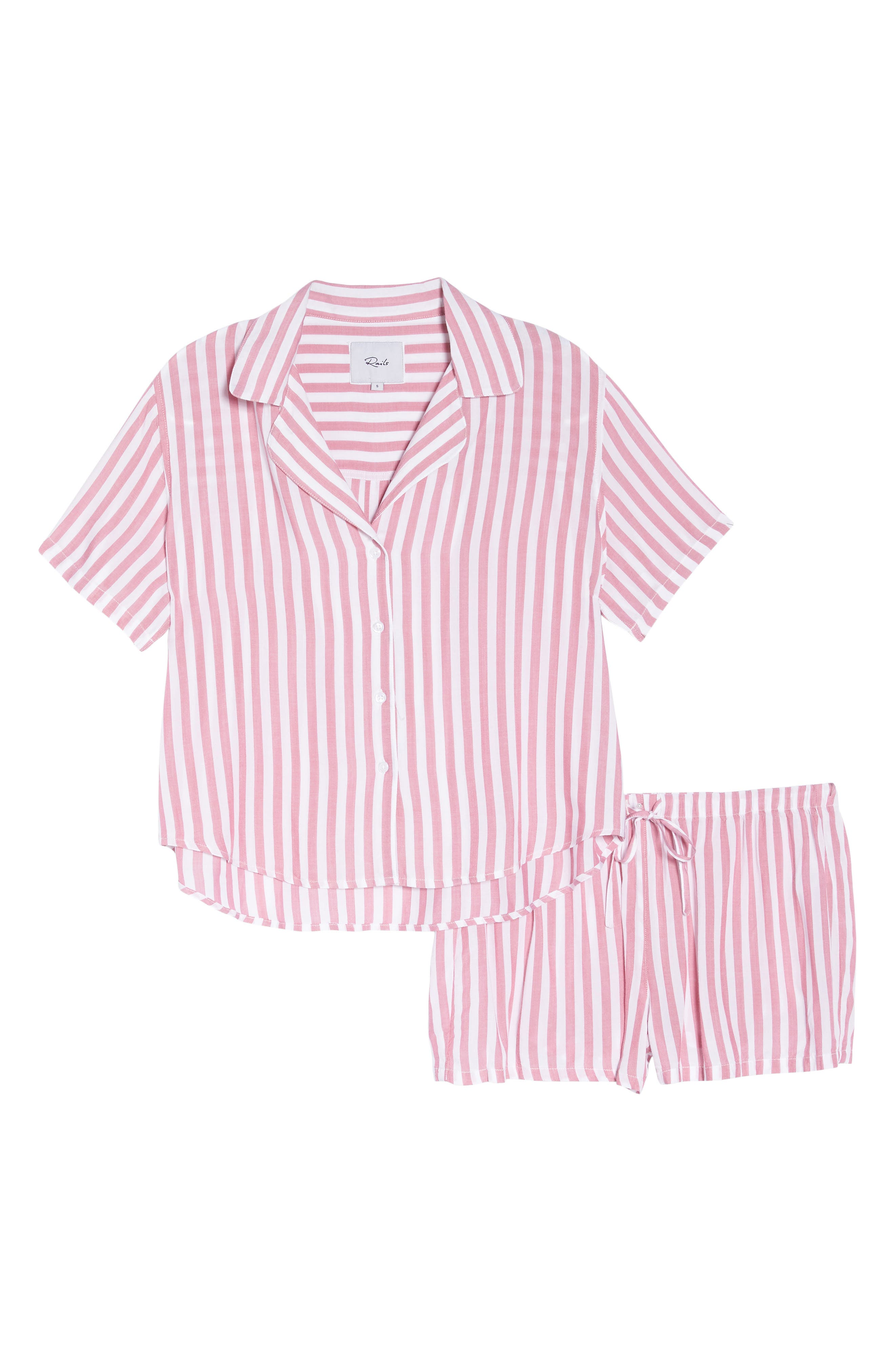Stripe Short Pajamas,                             Alternate thumbnail 6, color,                             648