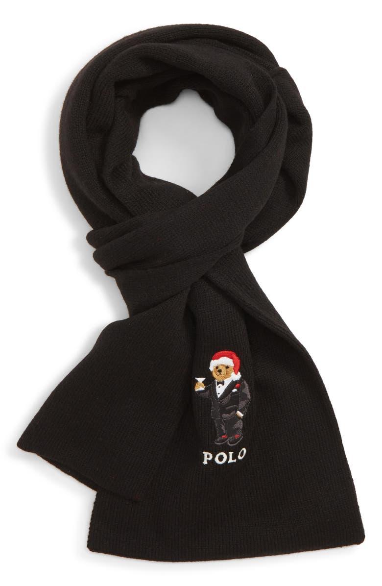 Polo Ralph Lauren Santa Hat Martini Bear Scarf  90589a39e711