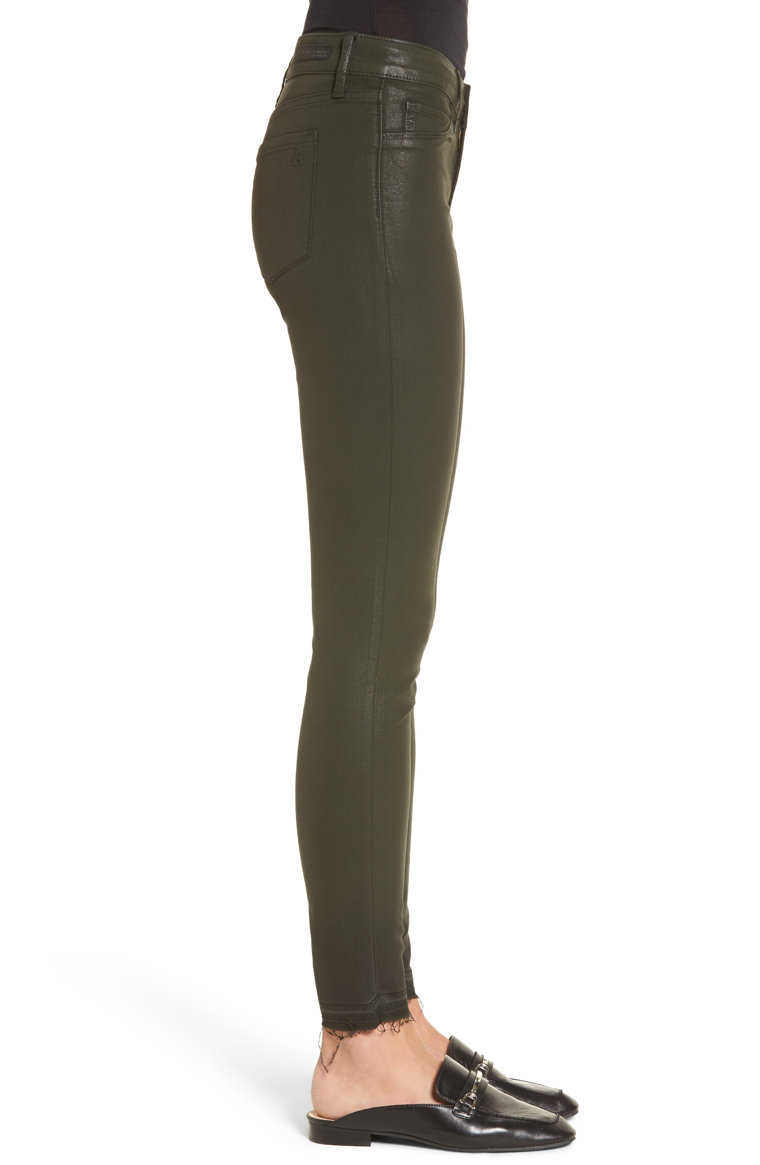 Sarah Coated Skinny Jeans,                             Alternate thumbnail 3, color,                             317