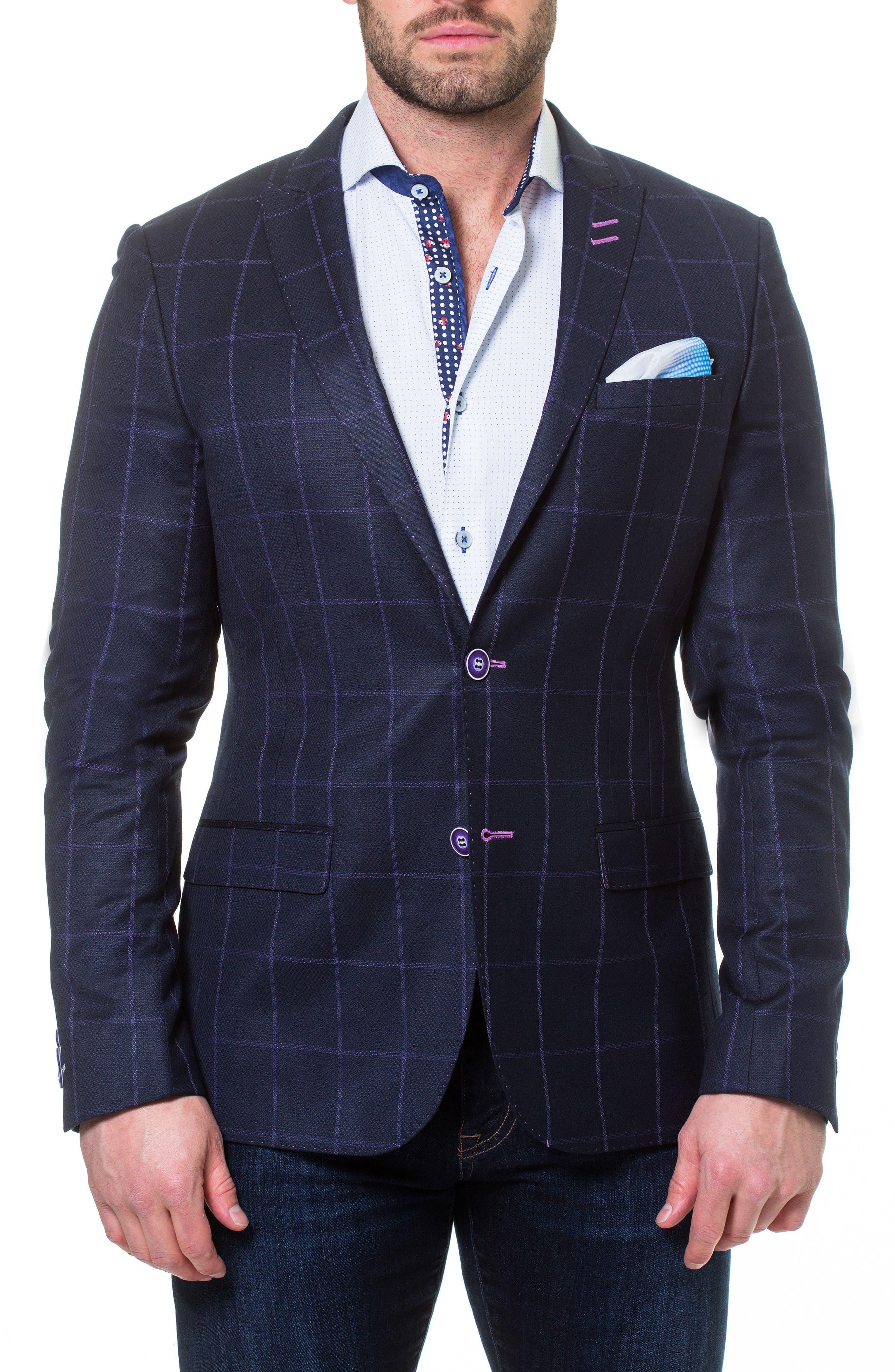 Descartes Check Linen & Cotton Blend Sport Coat,                         Main,                         color, 420