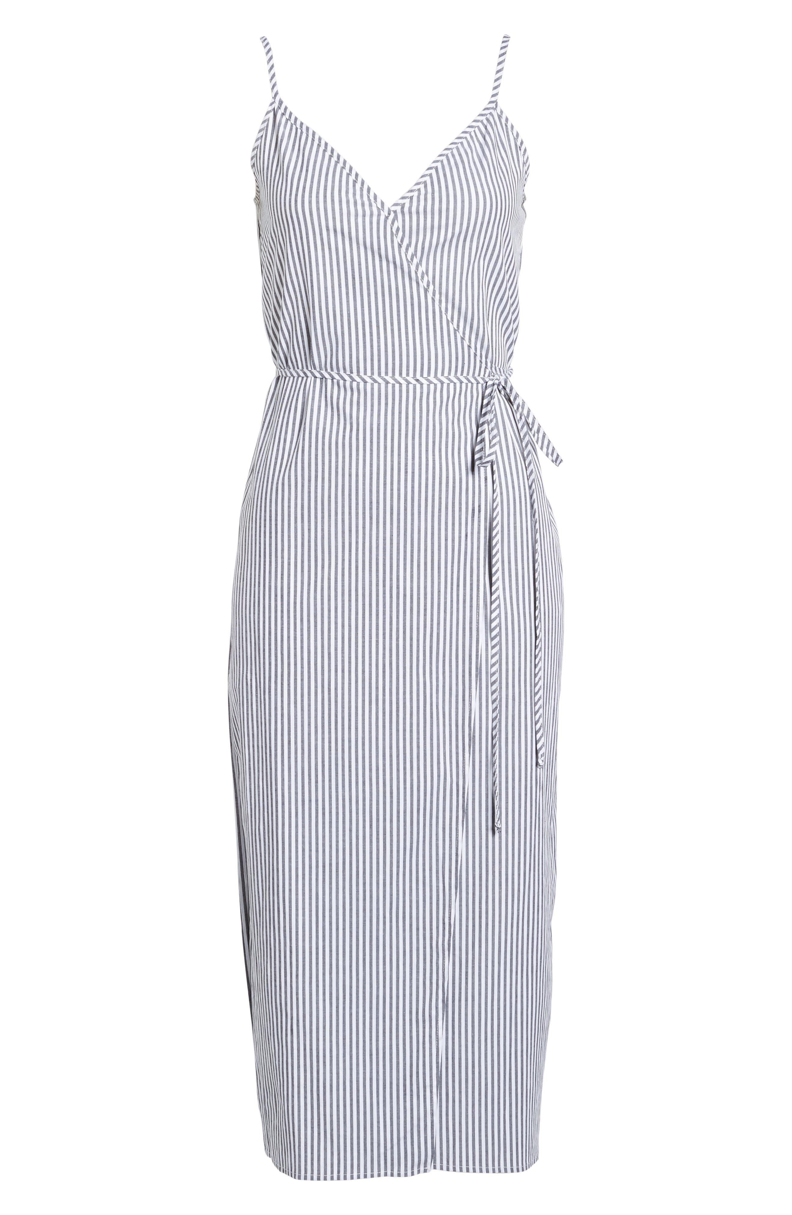 Wrap Midi Dress,                             Alternate thumbnail 21, color,
