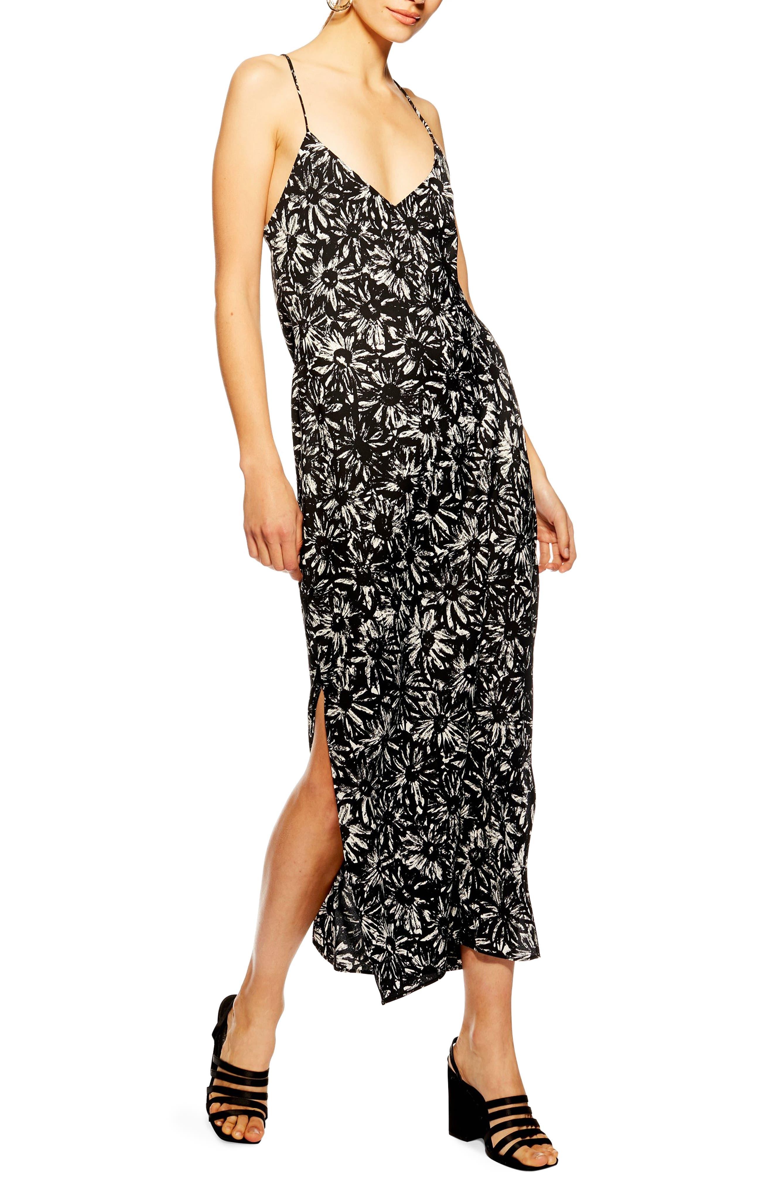 Topshop Daisy Slipdress, US (fits like 0) - Black