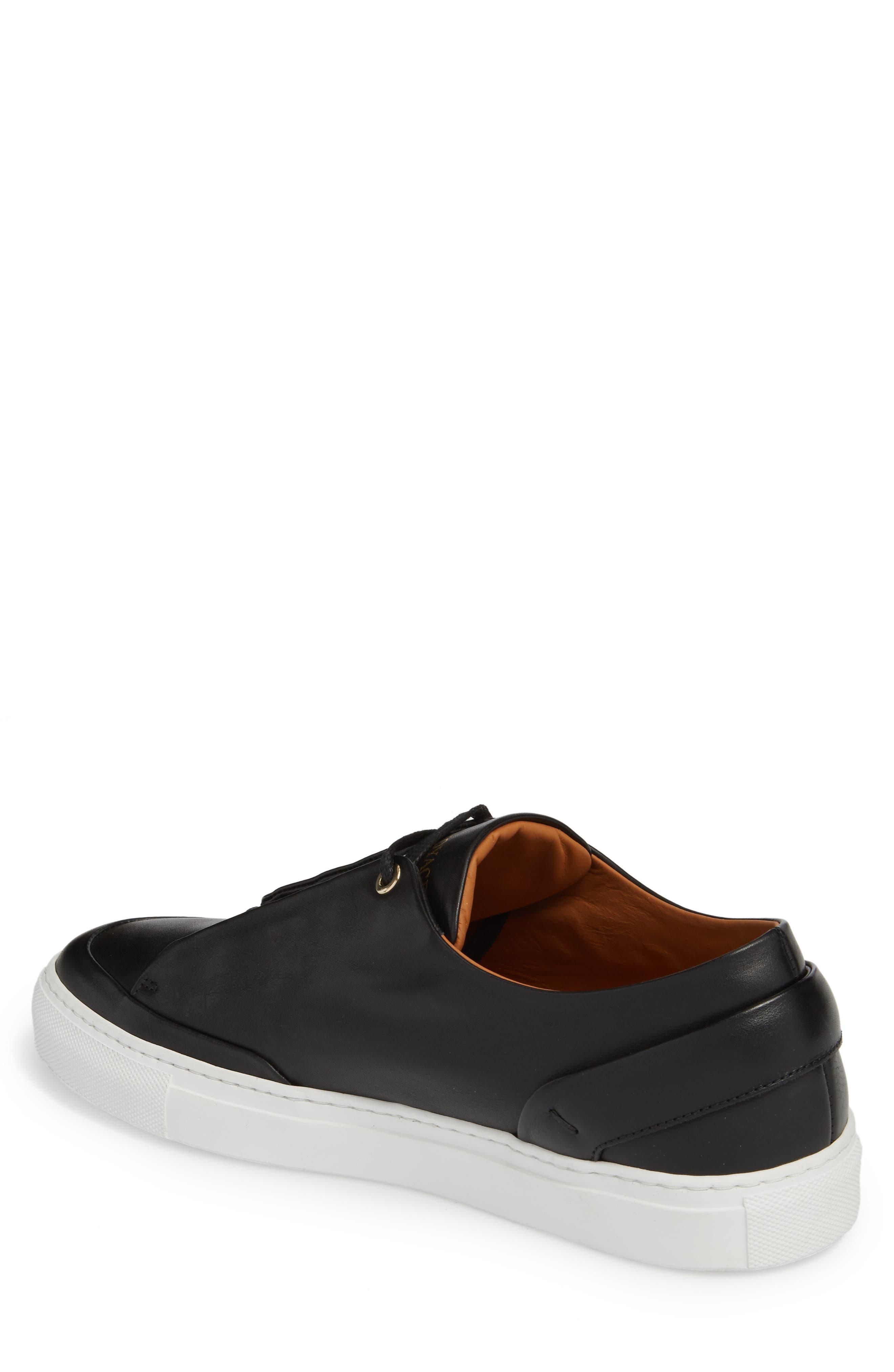 Avedon Sneaker,                             Alternate thumbnail 2, color,                             BLACK LEATHER