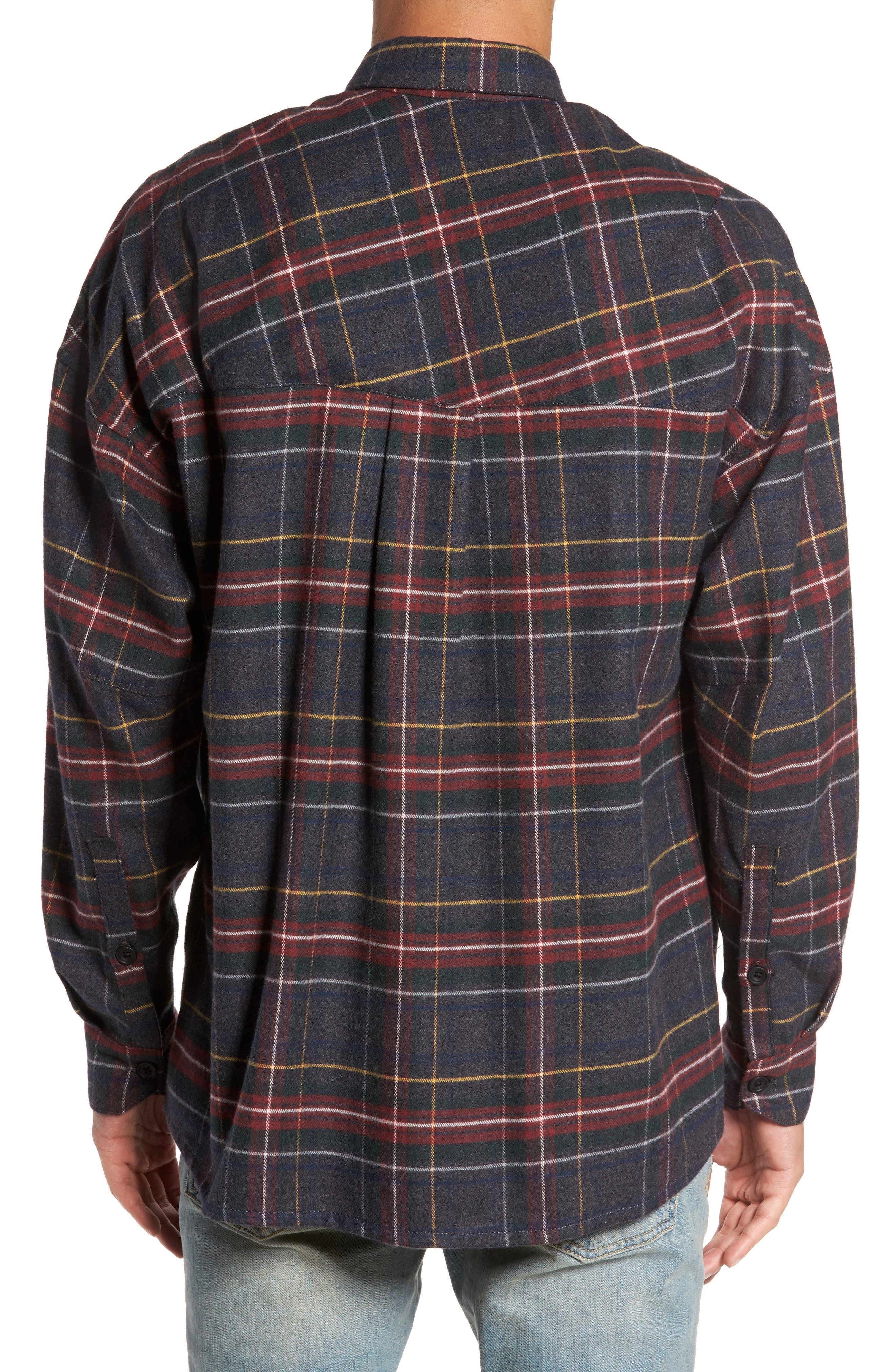 Standard Fit Plaid Sport Shirt,                             Alternate thumbnail 2, color,                             020