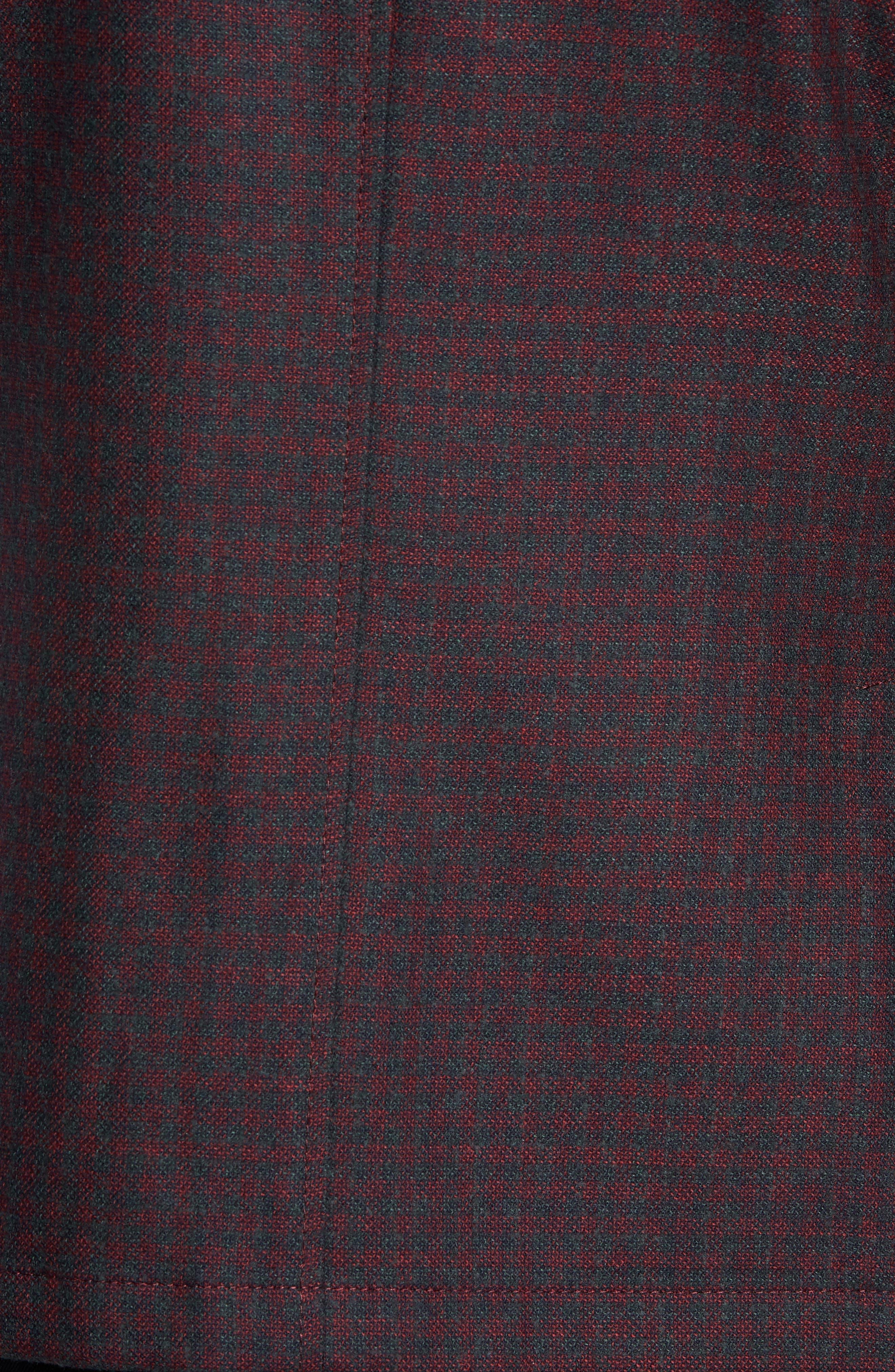 Regular Fit Wool Blend Sport Coat,                             Alternate thumbnail 6, color,                             RED