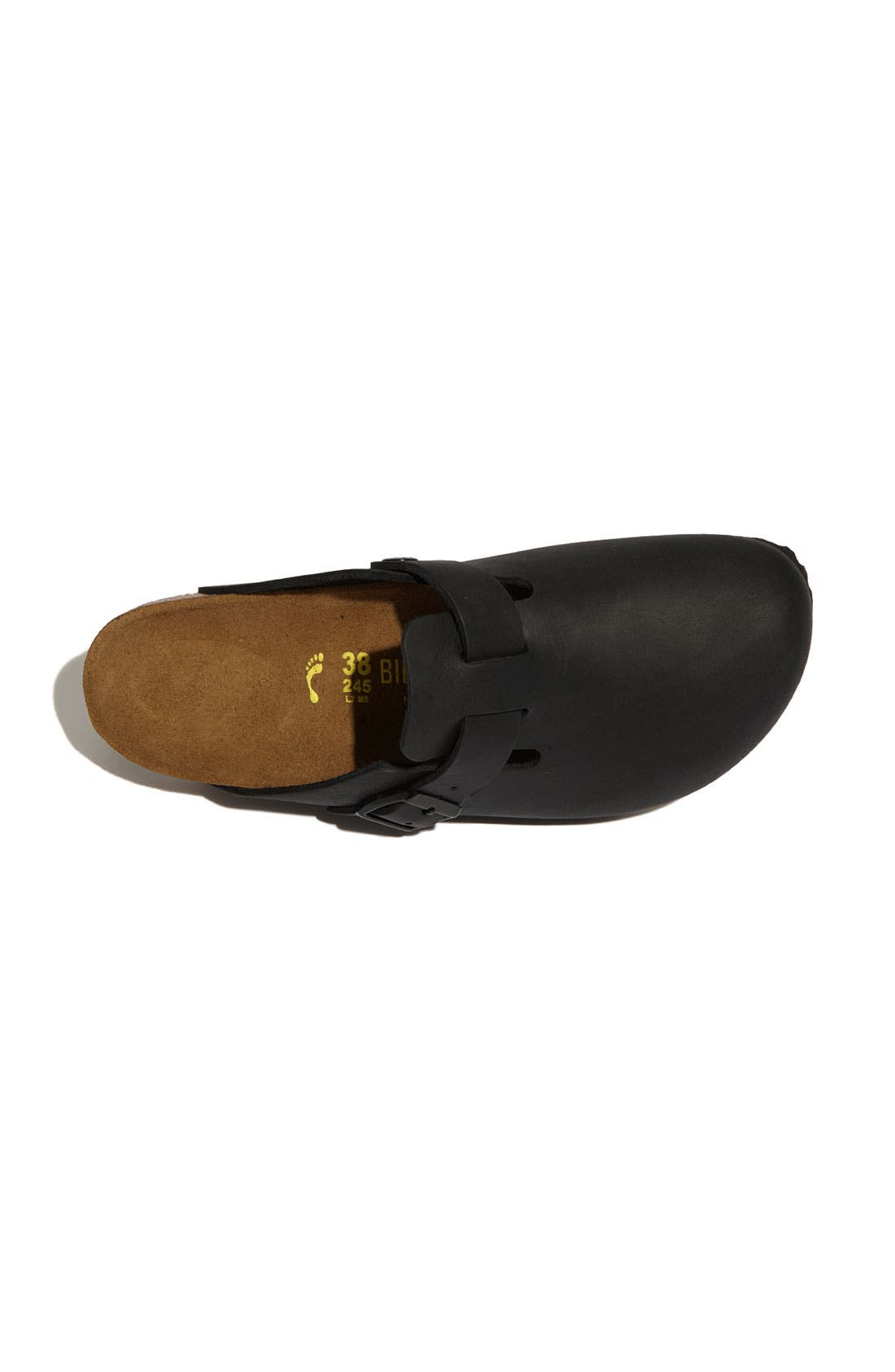 'Boston' Classic Oiled Leather Clog,                             Alternate thumbnail 27, color,