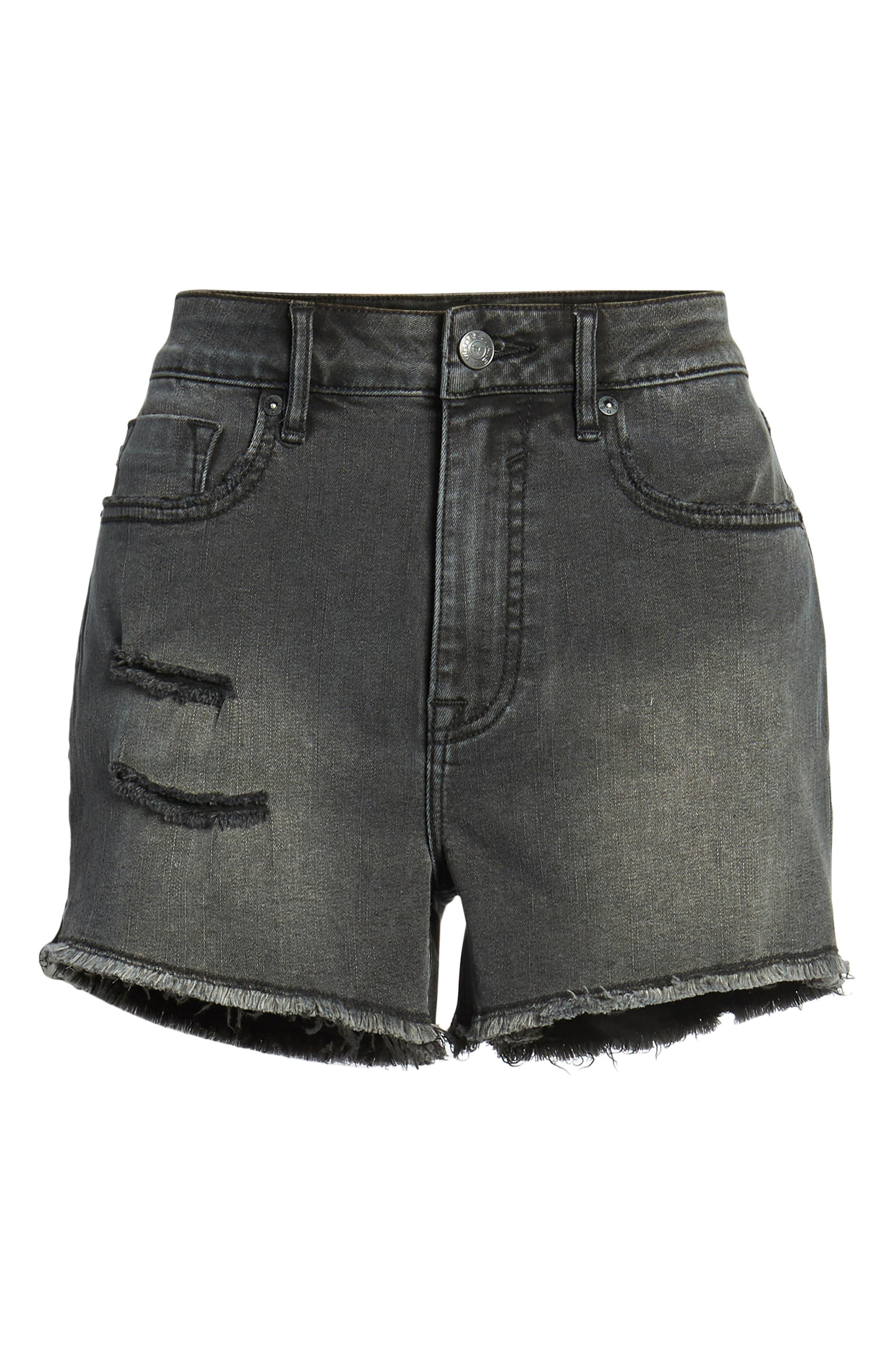 Jagger High Waist Denim Shorts,                             Alternate thumbnail 7, color,                             001