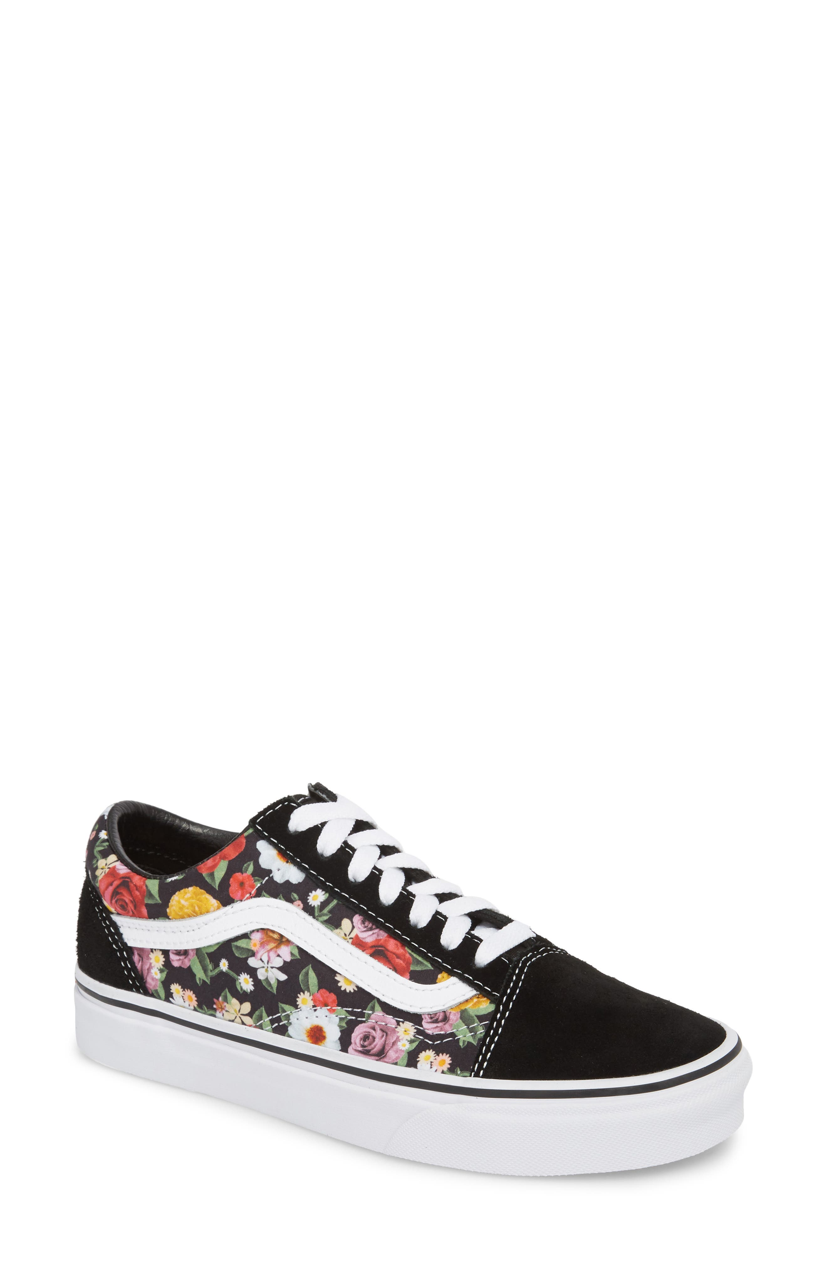 UA Old Skool Lux Floral Sneaker,                         Main,                         color, 001