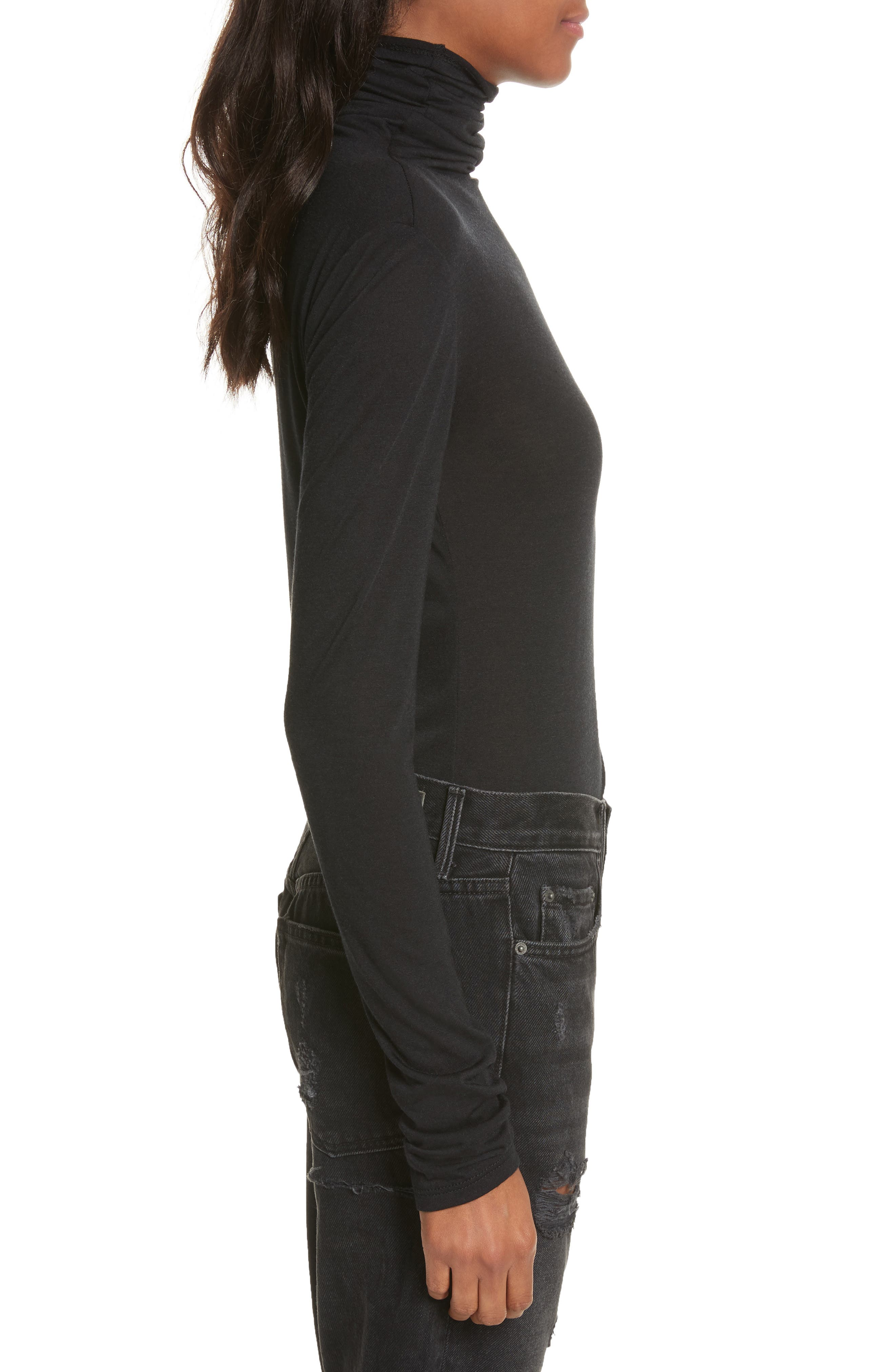The Perfect Tee Turtleneck,                             Alternate thumbnail 3, color,