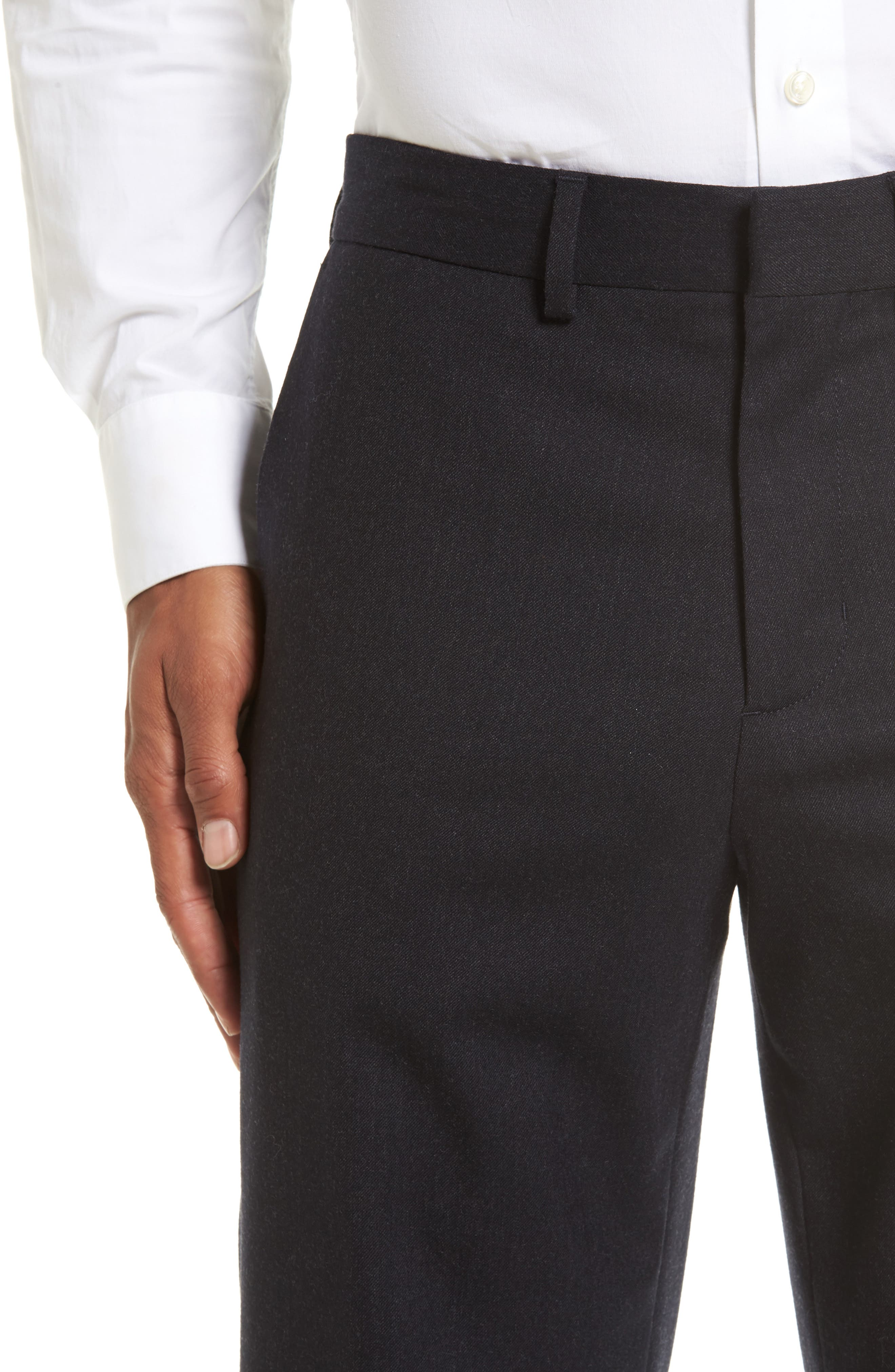 Regular Fit Wool Trousers,                             Alternate thumbnail 5, color,                             021