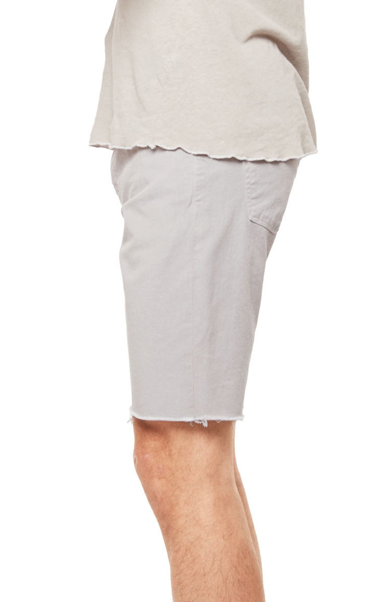 Eli Cutoff Denim Shorts,                             Alternate thumbnail 3, color,                             100