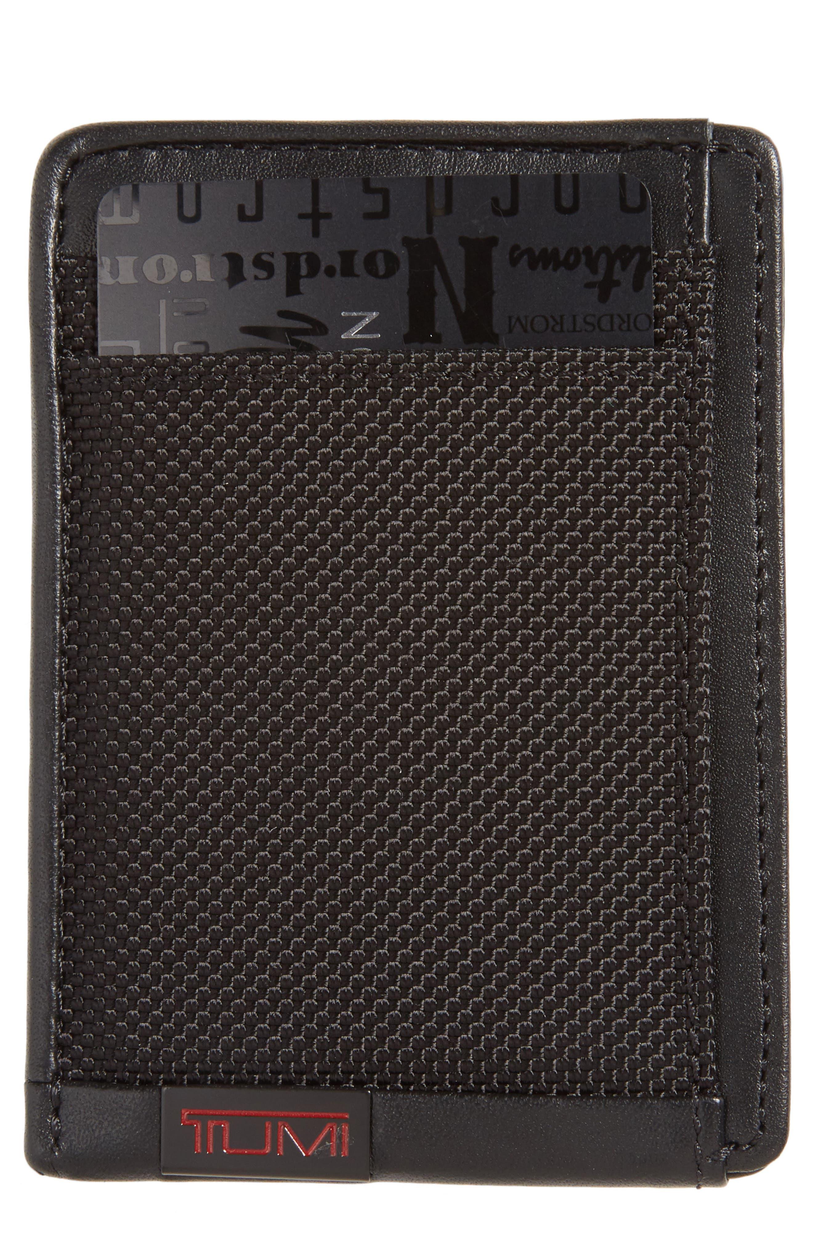 'Alpha' Money Clip Card Case,                             Main thumbnail 1, color,                             001