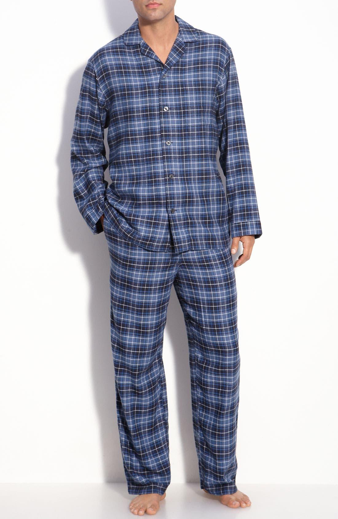 '824' Flannel Pajama Set,                             Main thumbnail 24, color,