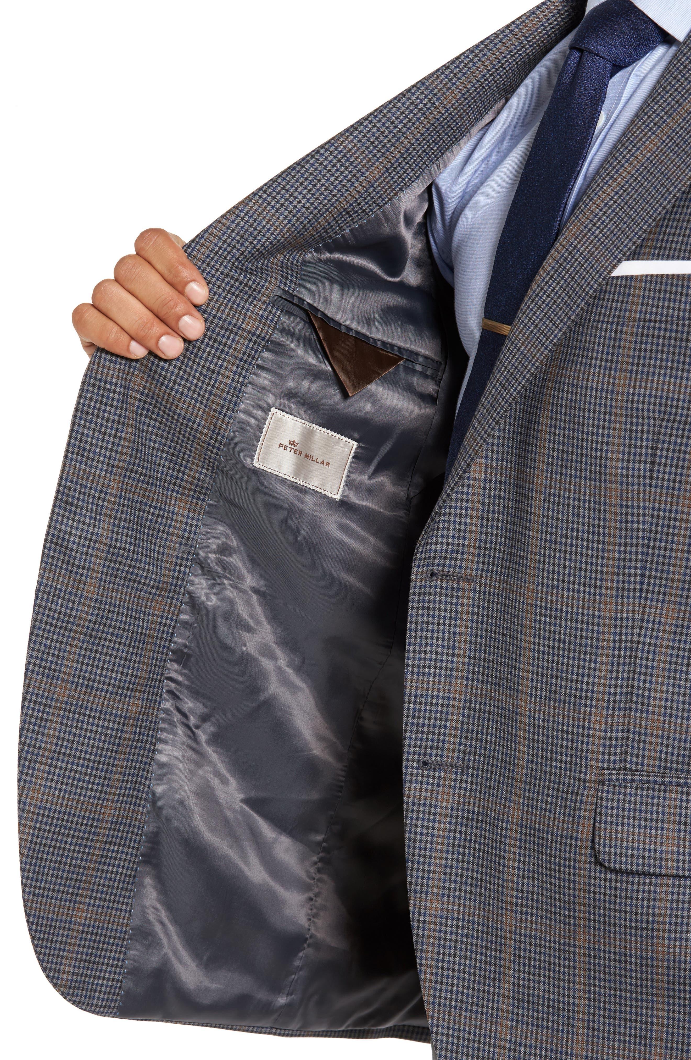 Classic Fit Plaid Wool Sport Coat,                             Alternate thumbnail 4, color,                             020