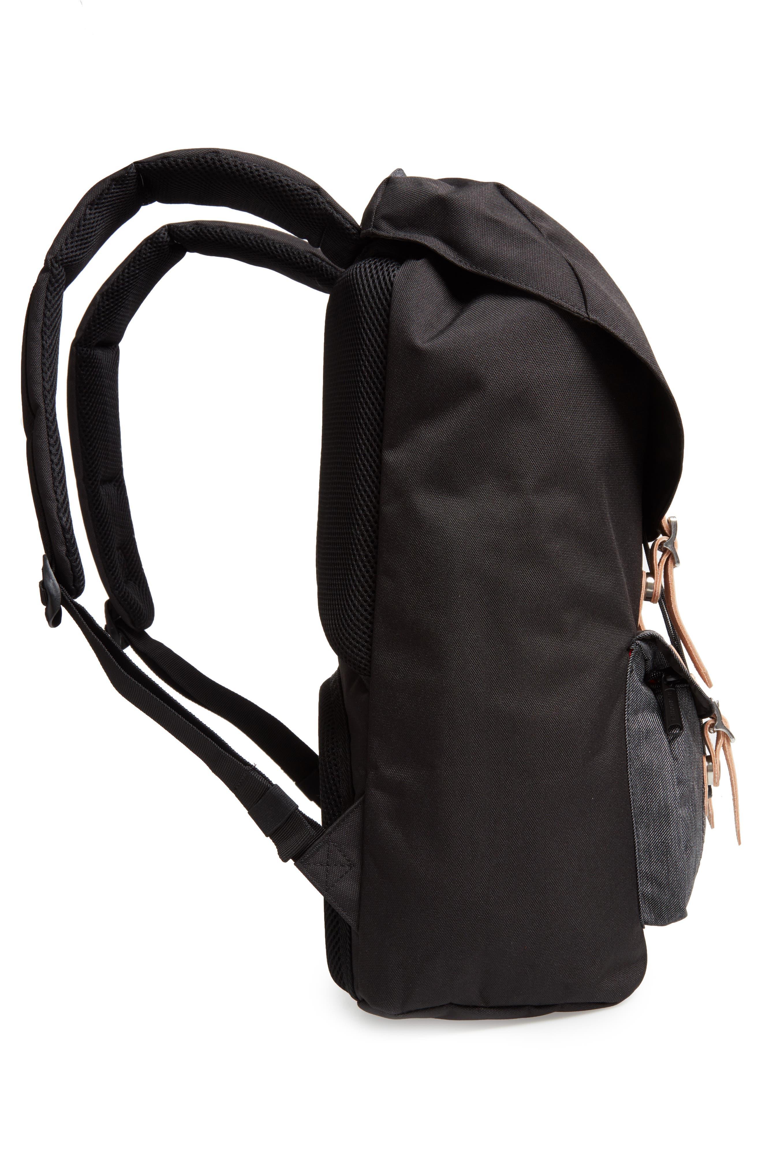 Little America Offset Backpack,                             Alternate thumbnail 5, color,                             BLACK/ BLACK DENIM
