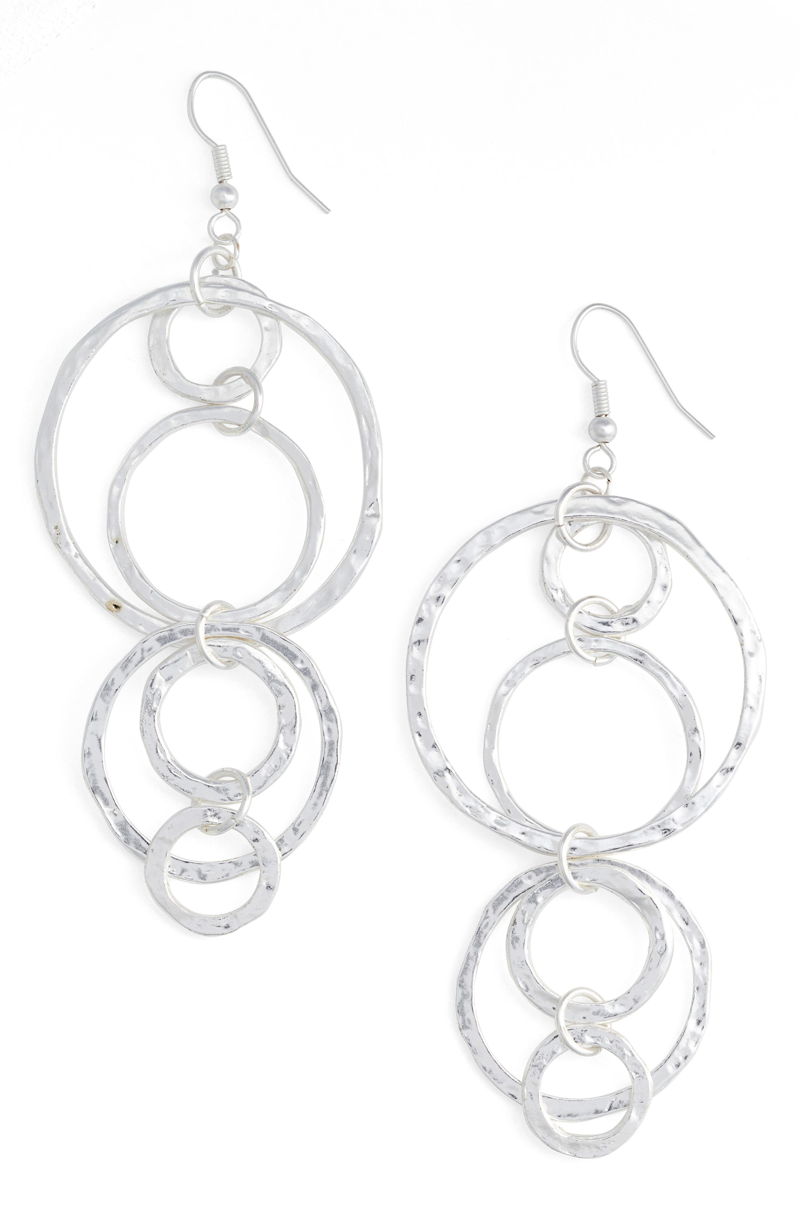 Louane Multi Circle Drop Earrings,                         Main,                         color, SILVER