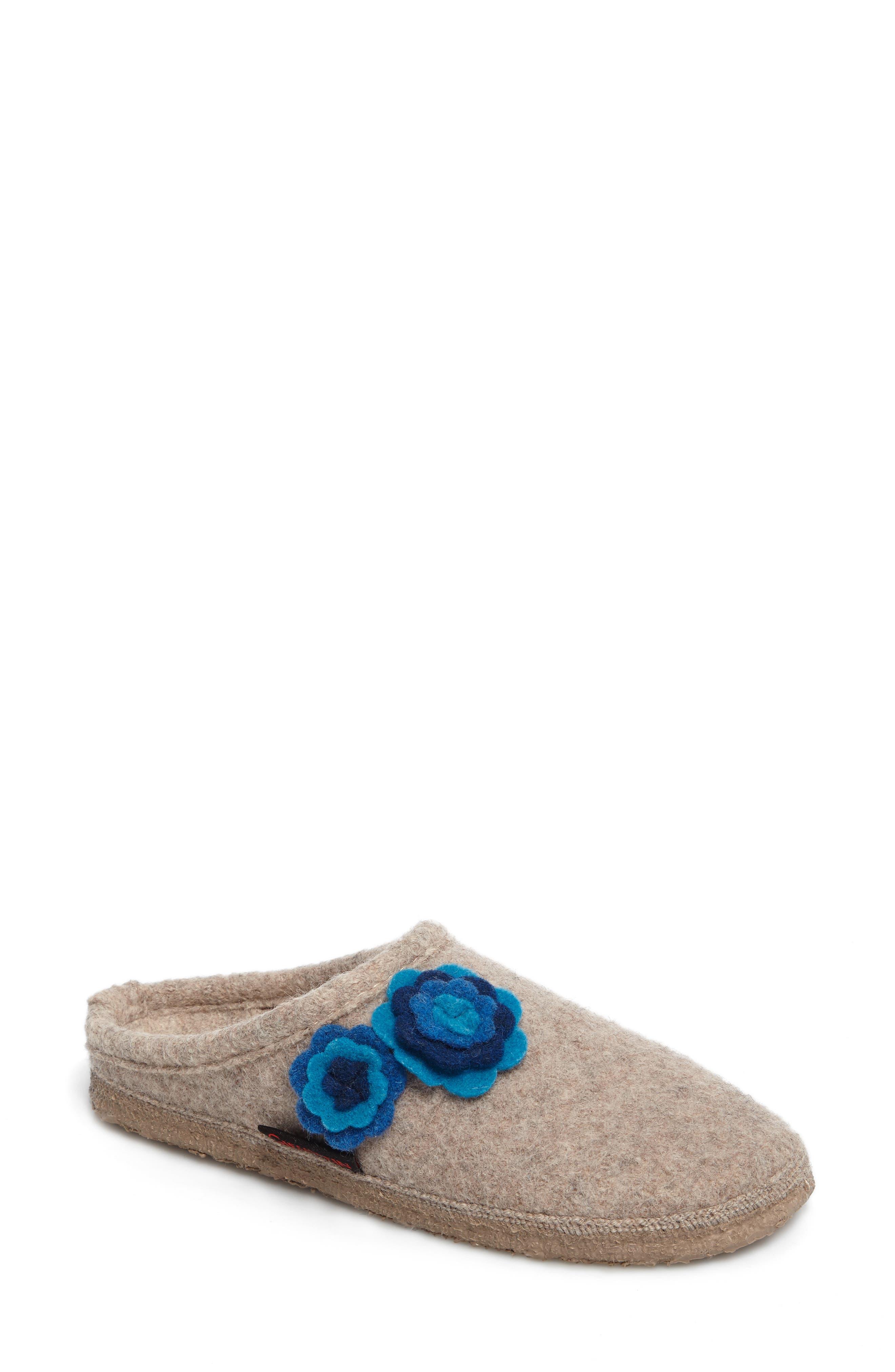Georgie Indoor Boiled Wool Slipper,                             Main thumbnail 1, color,                             NATURAL WOOL