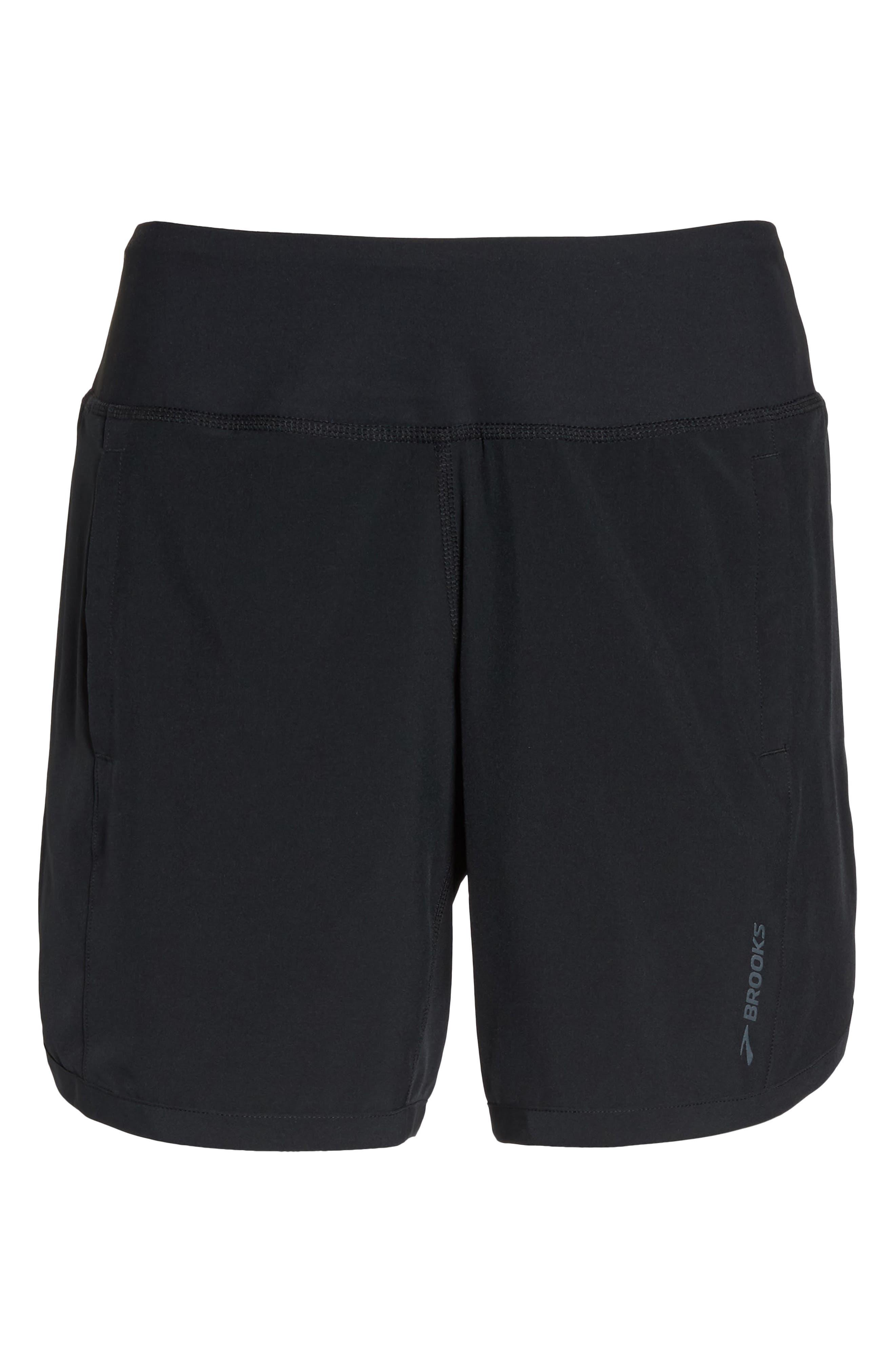 BROOKS,                             Chaser 7 Shorts,                             Alternate thumbnail 7, color,                             BLACK