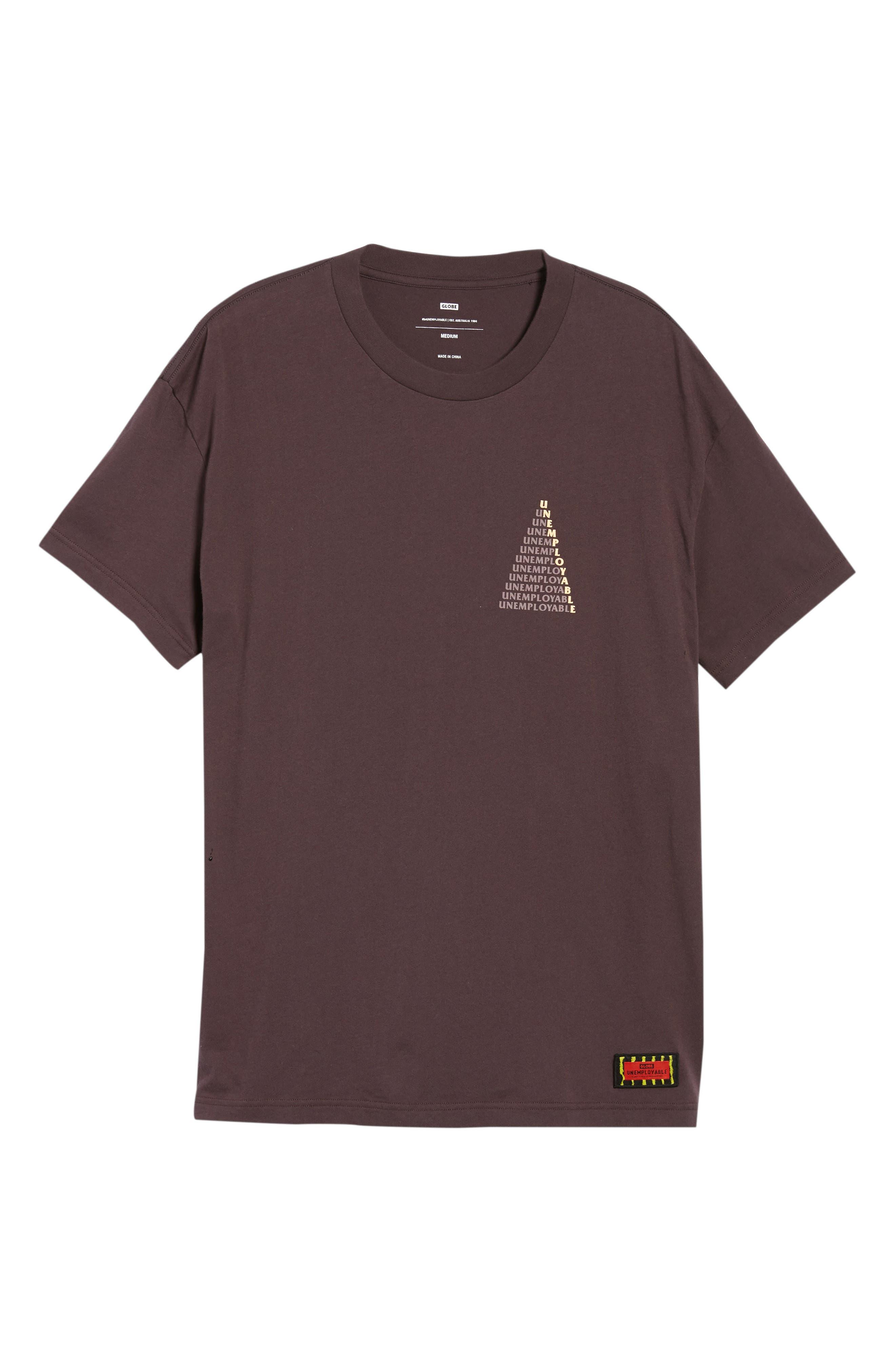 UE Pyramid T-Shirt,                             Alternate thumbnail 6, color,                             WINE