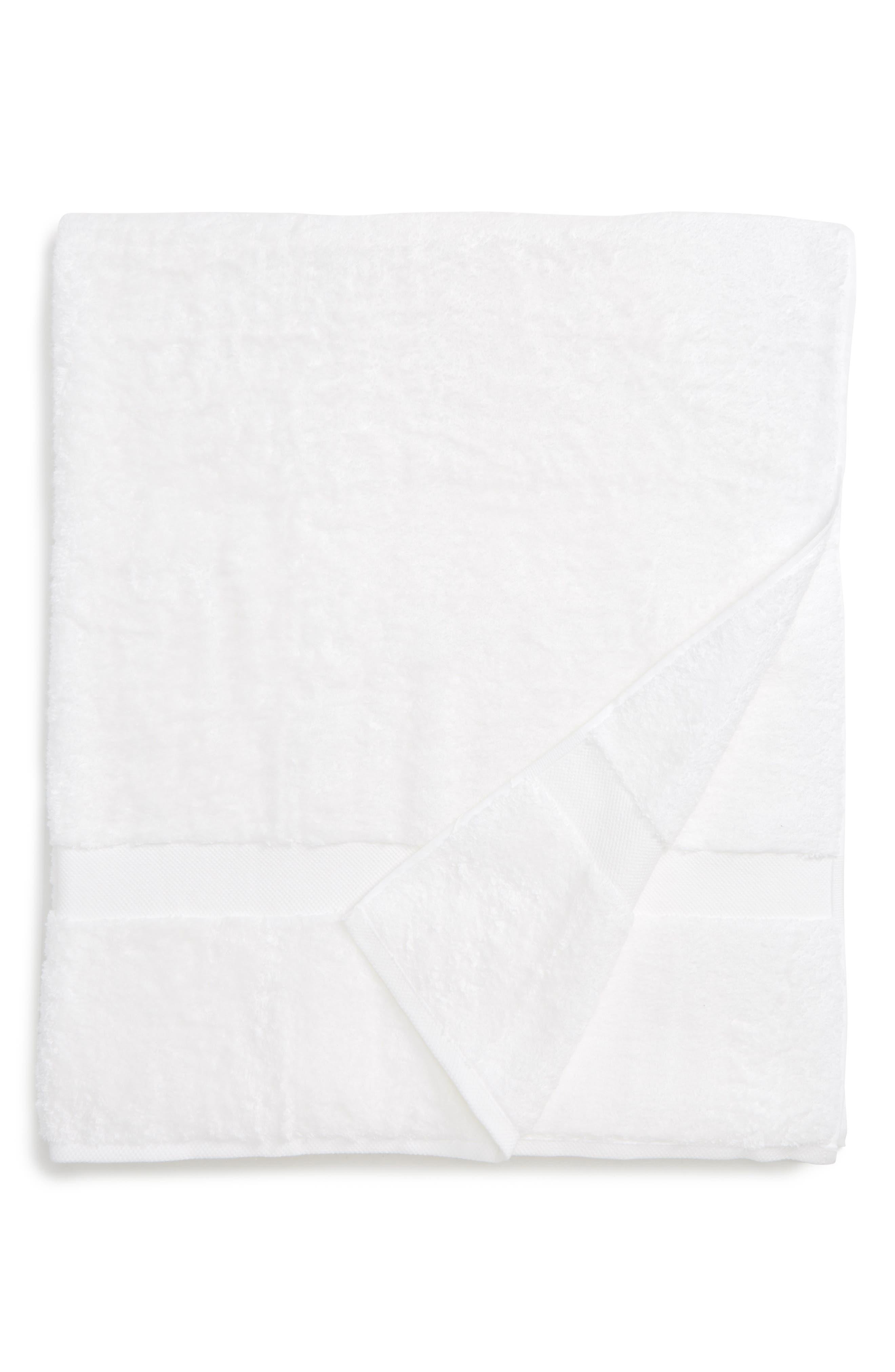 Lotus Bath Sheet,                         Main,                         color, WHITE