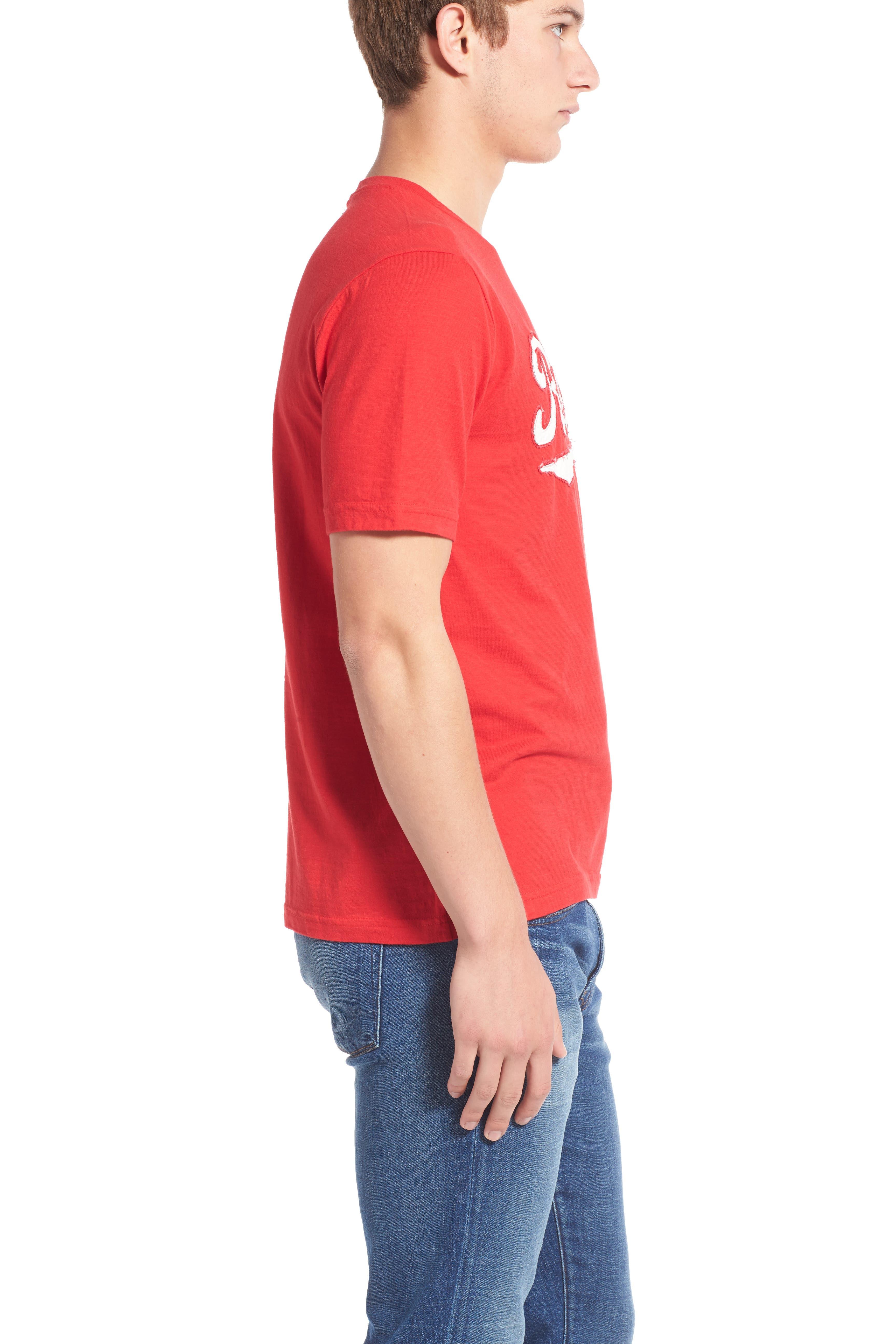 'Cincinnati Reds - Twofold' Crewneck T-Shirt,                             Alternate thumbnail 4, color,                             600