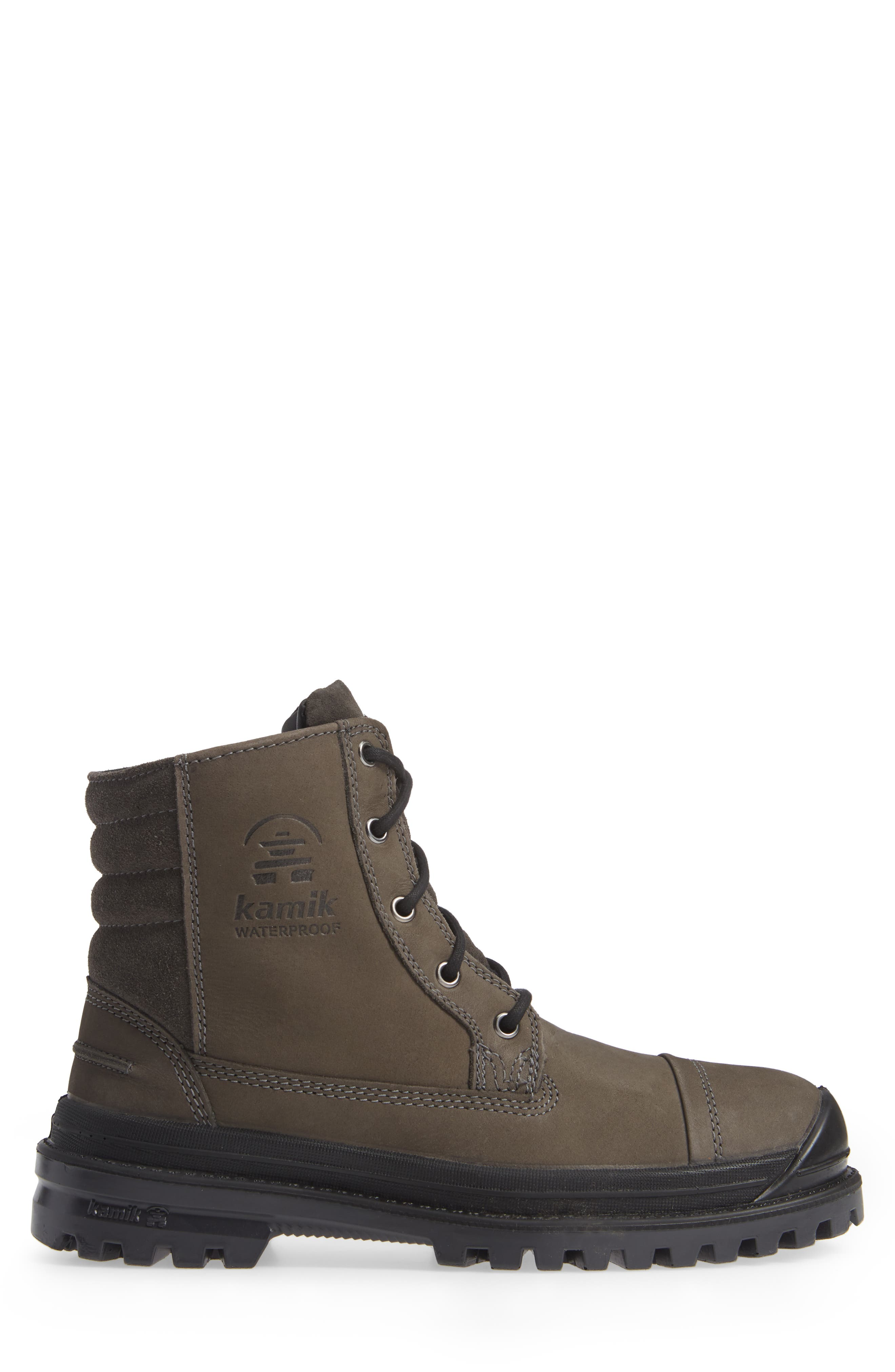 Griffon Waterproof Boot,                             Alternate thumbnail 3, color,                             CHARCOAL LEATHER