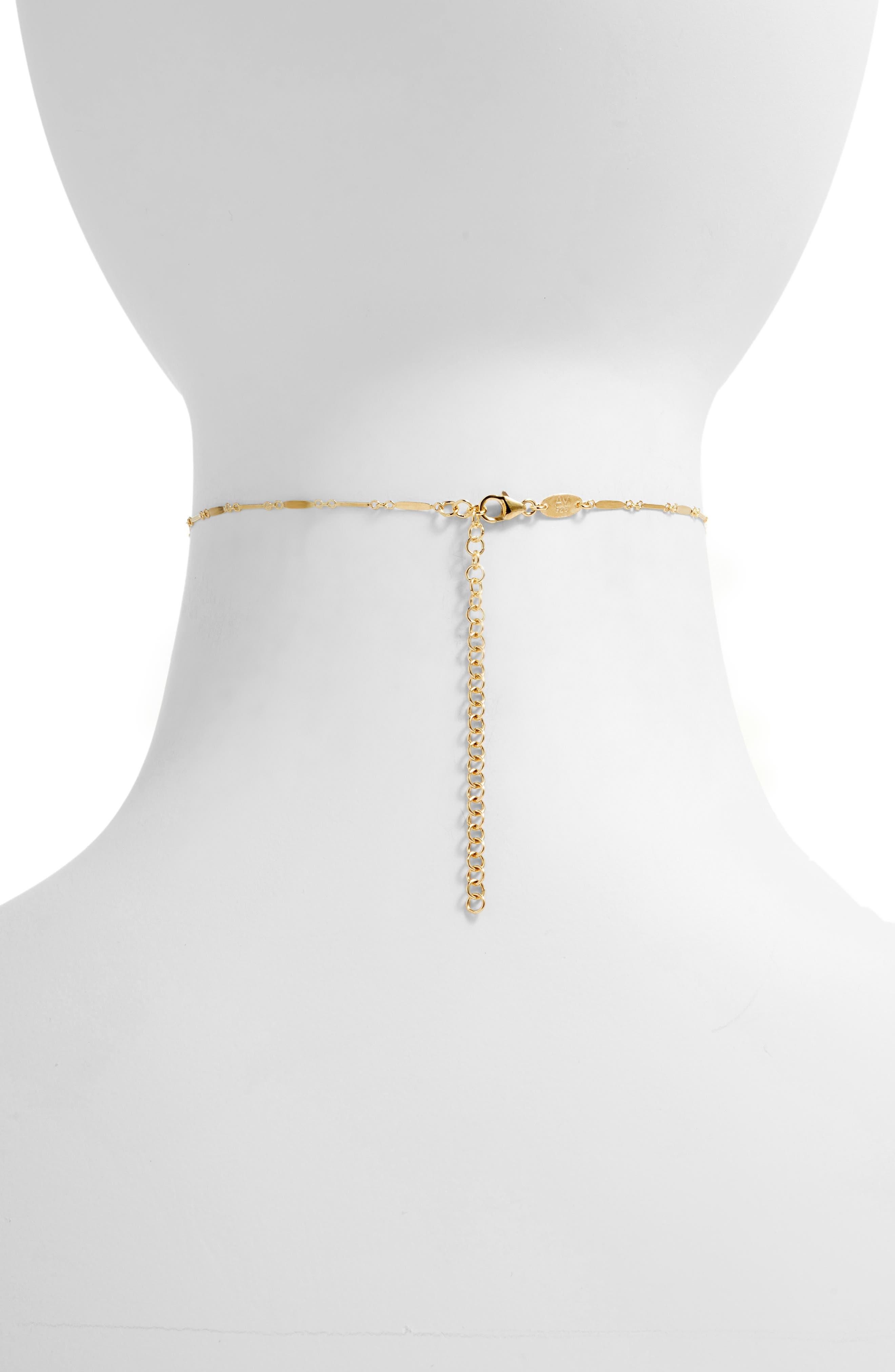 Mirror Bar Choker Necklace,                             Alternate thumbnail 3, color,                             GOLD