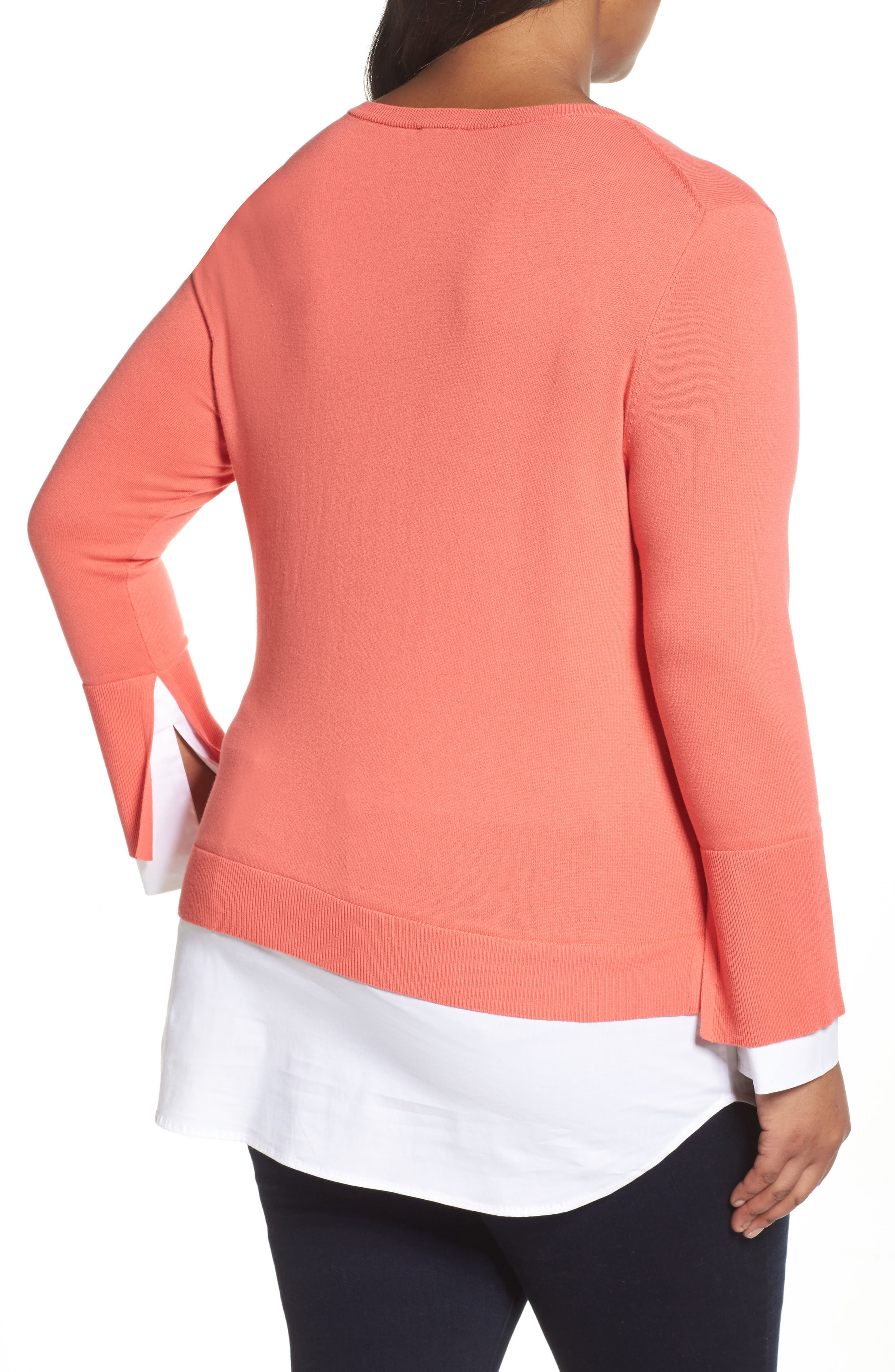 Layered Look Sweater,                             Alternate thumbnail 7, color,