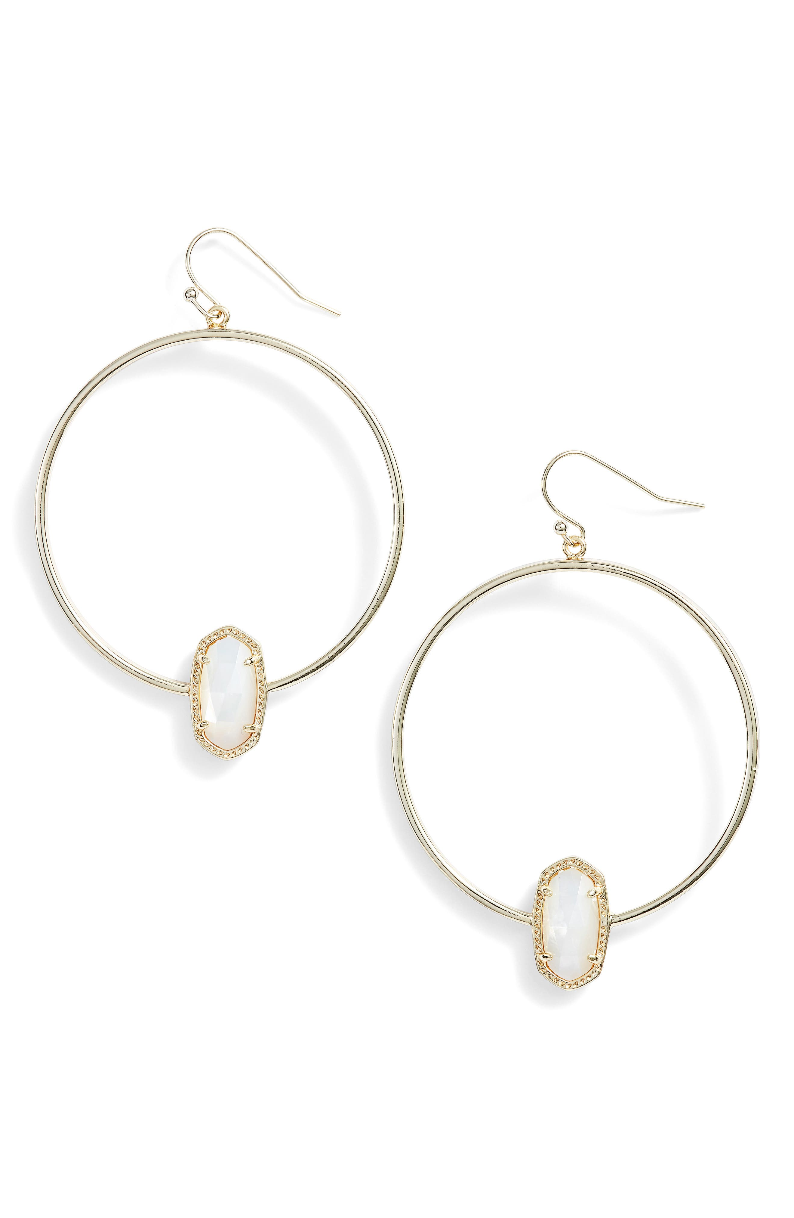 Elora Frontal Hoop Earrings,                             Main thumbnail 6, color,