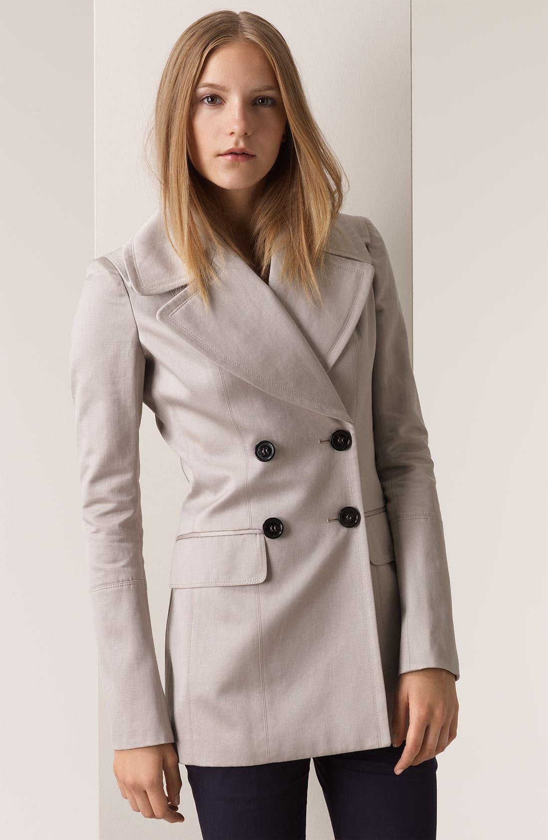 BURBERRY PRORSUM Cotton Sateen Coat, Main, color, 250