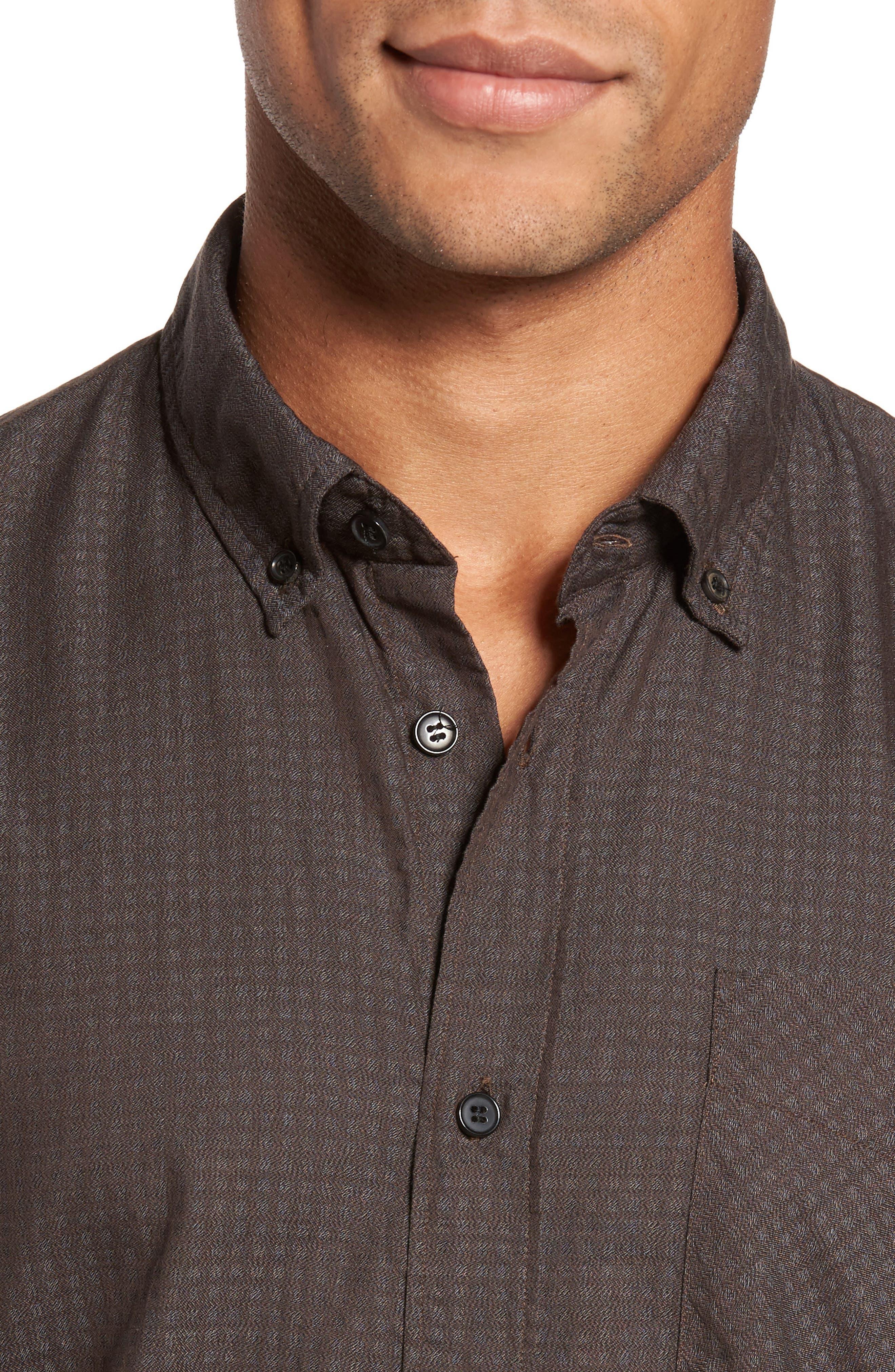 Wallace Slim Fit Sport Shirt,                             Alternate thumbnail 8, color,