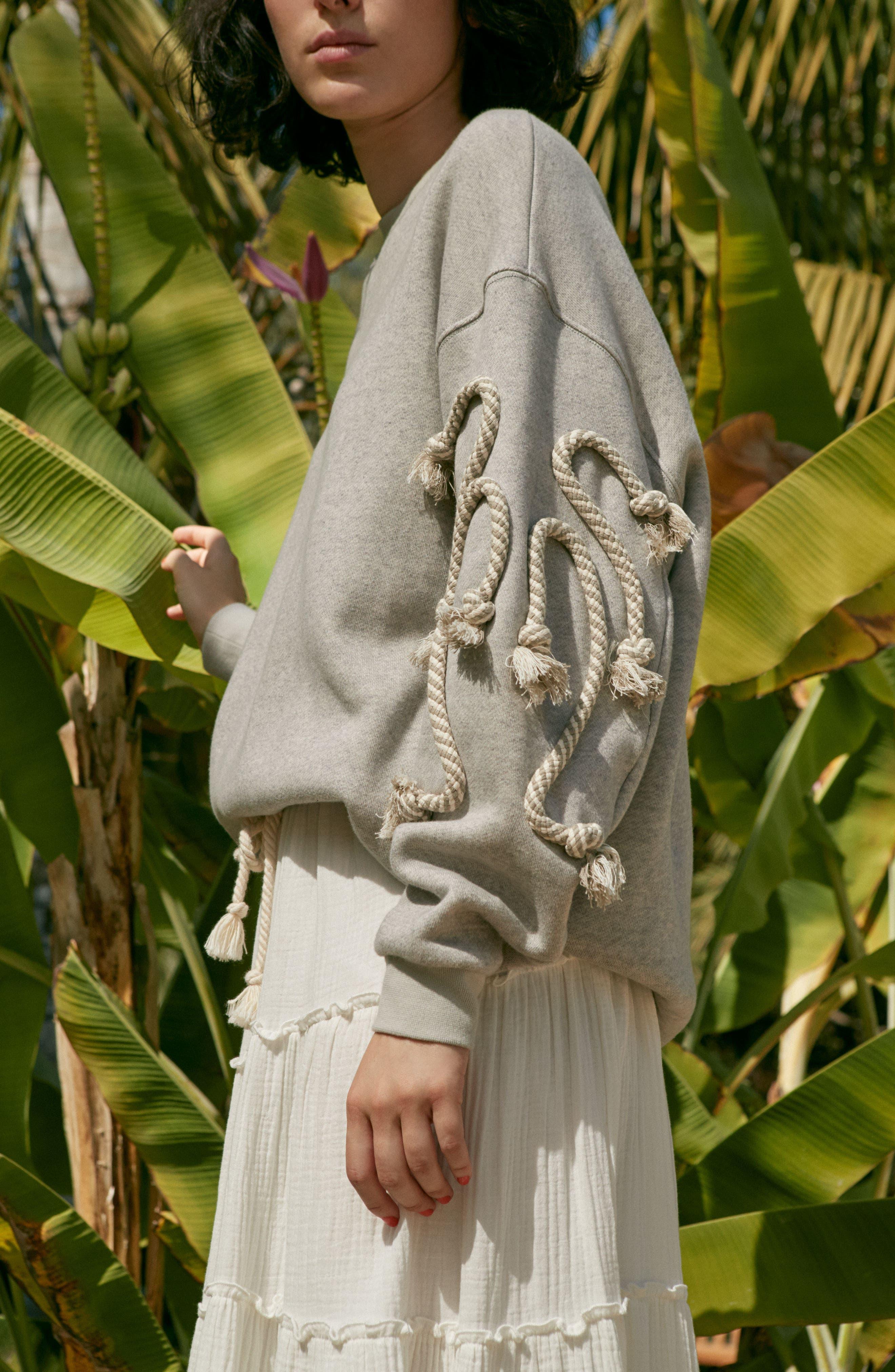 Crinkled Cotton Midi Skirt,                             Alternate thumbnail 8, color,                             101