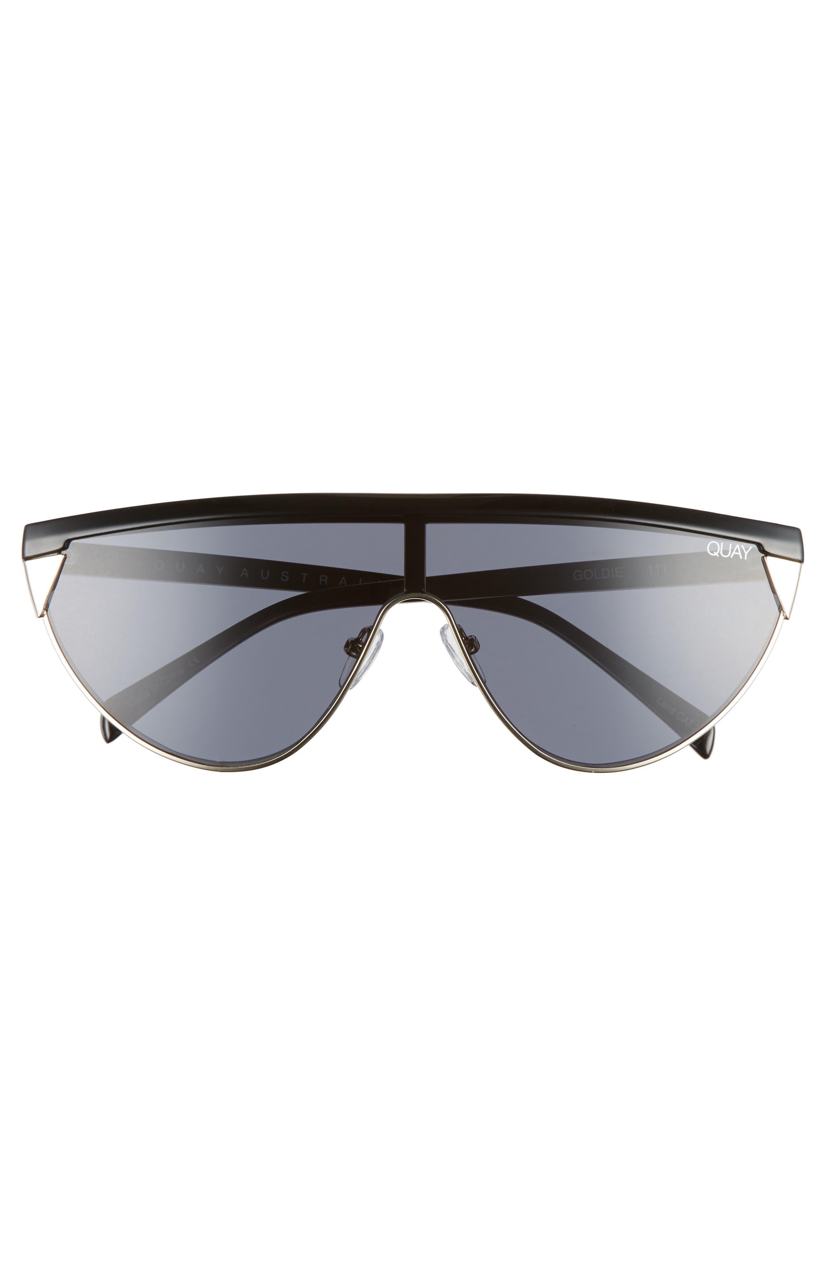 x Elle Ferguson Goldie 48mm Shield Sunglasses,                             Alternate thumbnail 3, color,                             001
