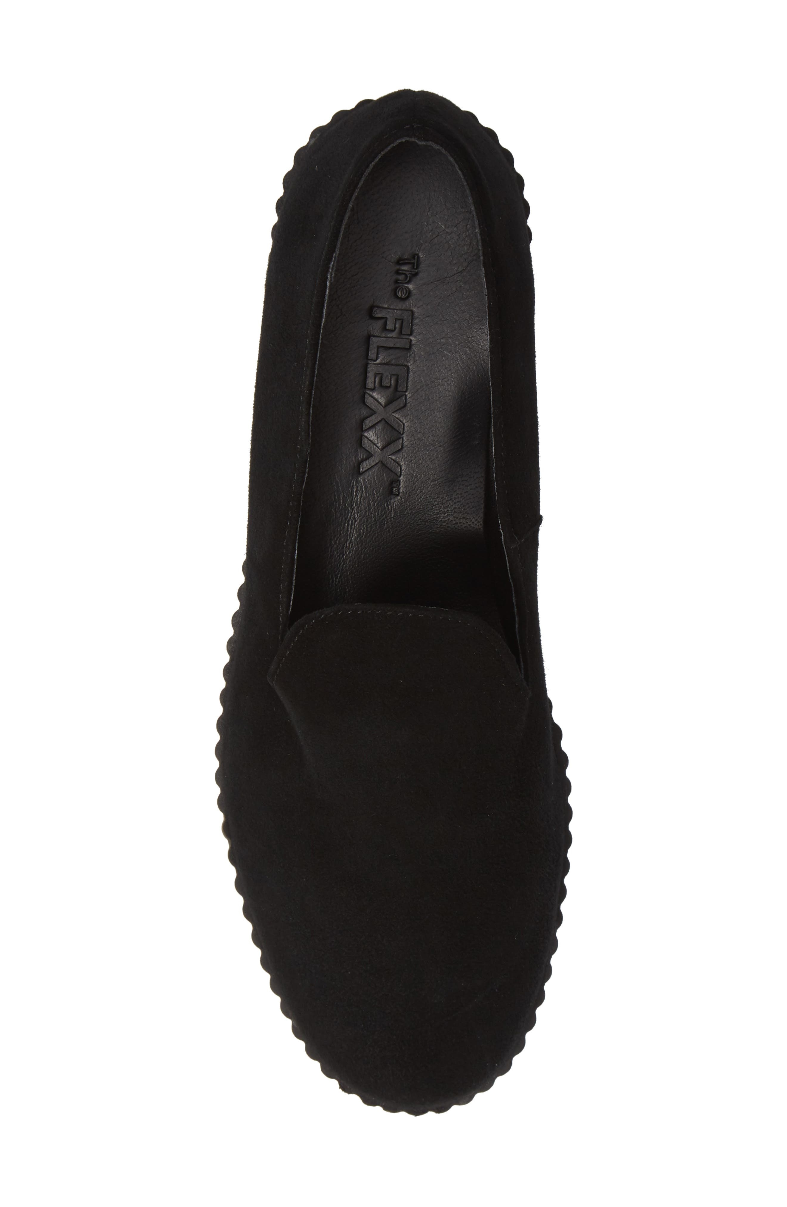 Fast Times Loafer,                             Alternate thumbnail 5, color,                             BLACK SUEDE