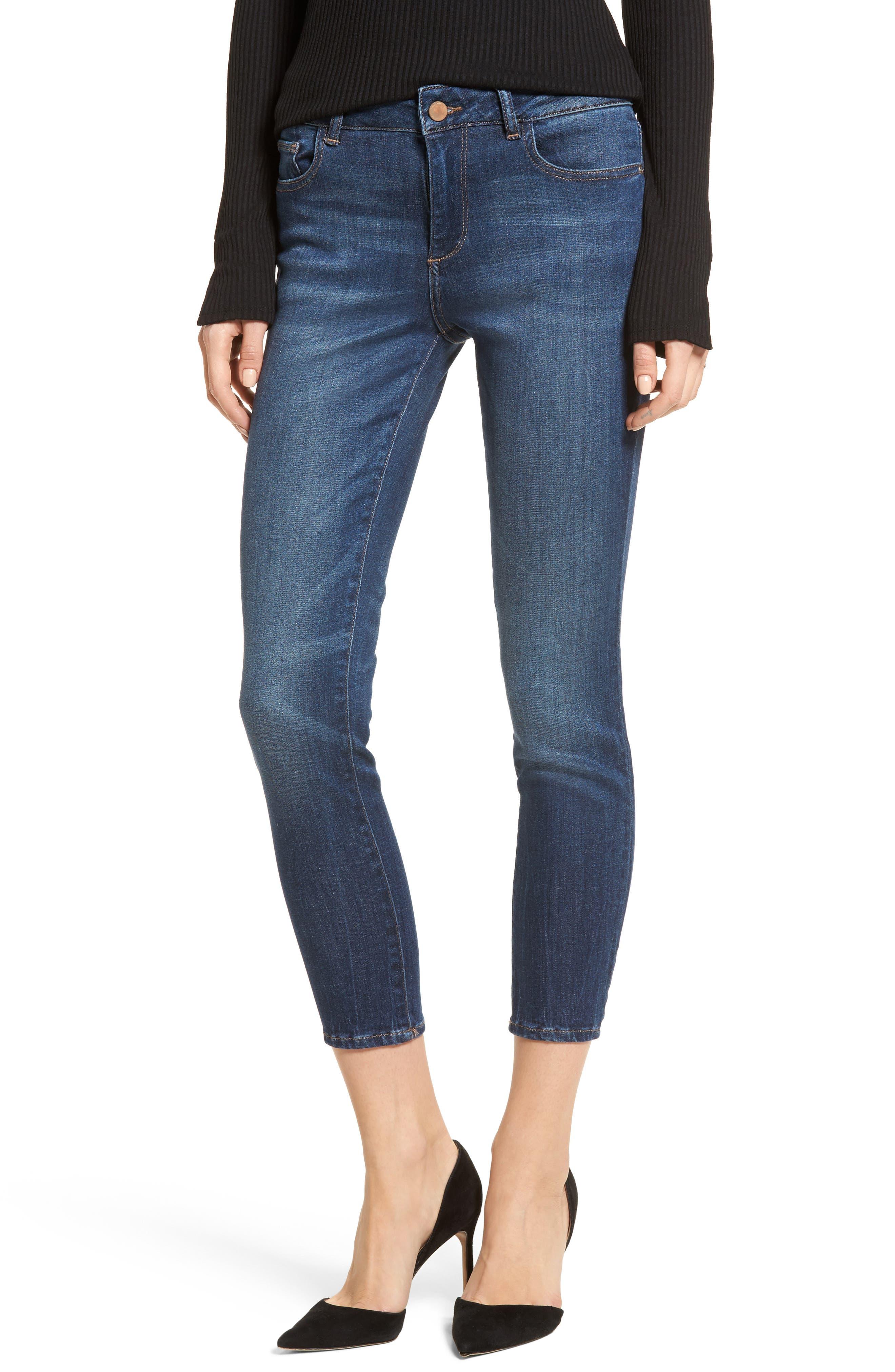 Florence Instasculpt Crop Skinny Jeans,                         Main,                         color, 405